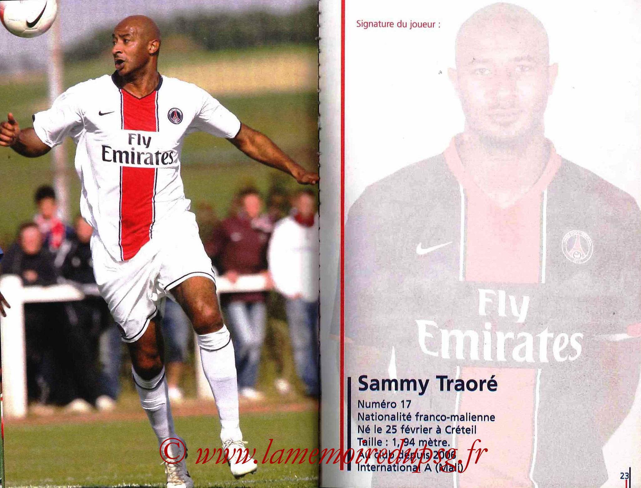 2007-08 - Guide de la Saison PSG - Pages 22 et 23 - Sammy TRAORE