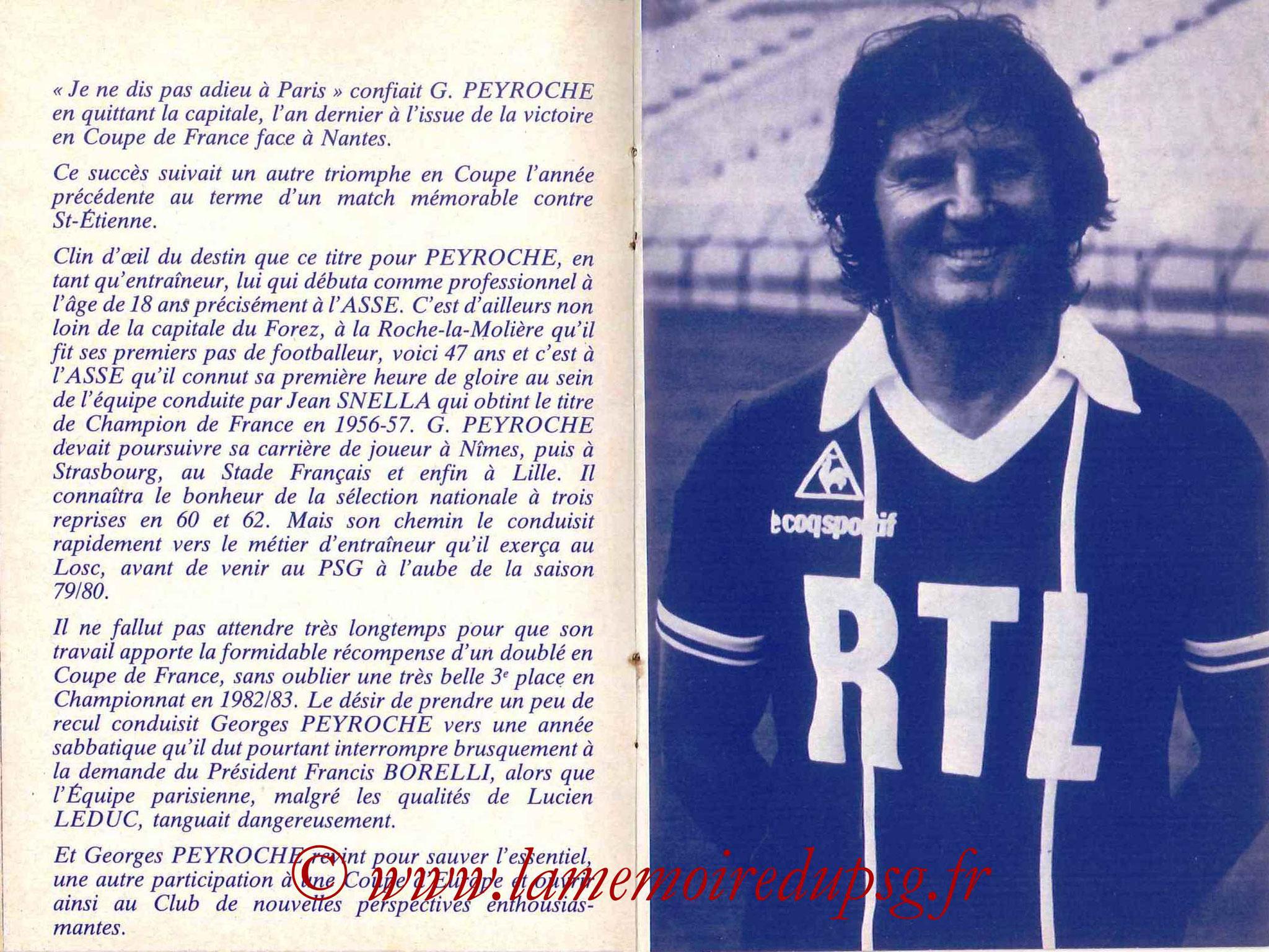 1984-85 - Guide de la Saison PSG - Pages 14 et 15