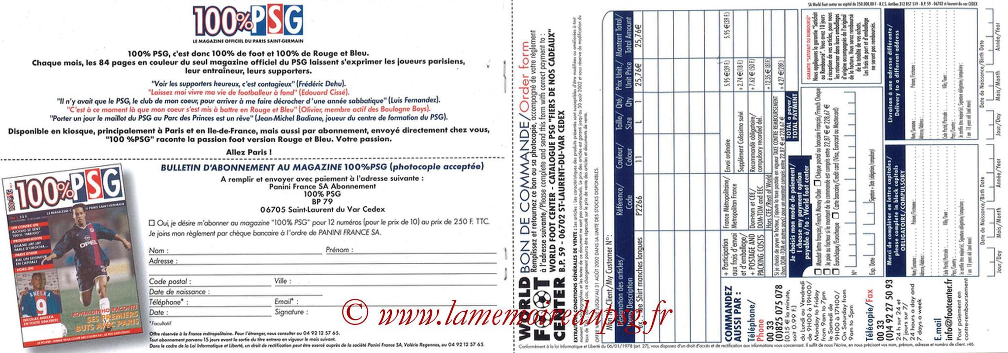 Catalogue PSG - 2001-02 - Noêl - Pages 12 et 13