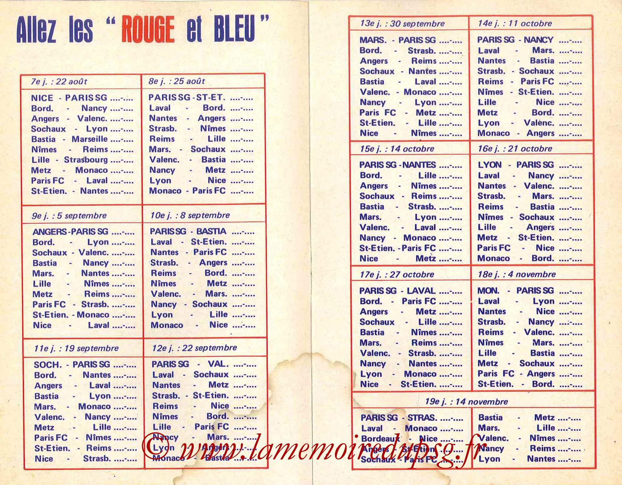 1978-79 - Guide de la Saison PSG - Pages 6 et 7