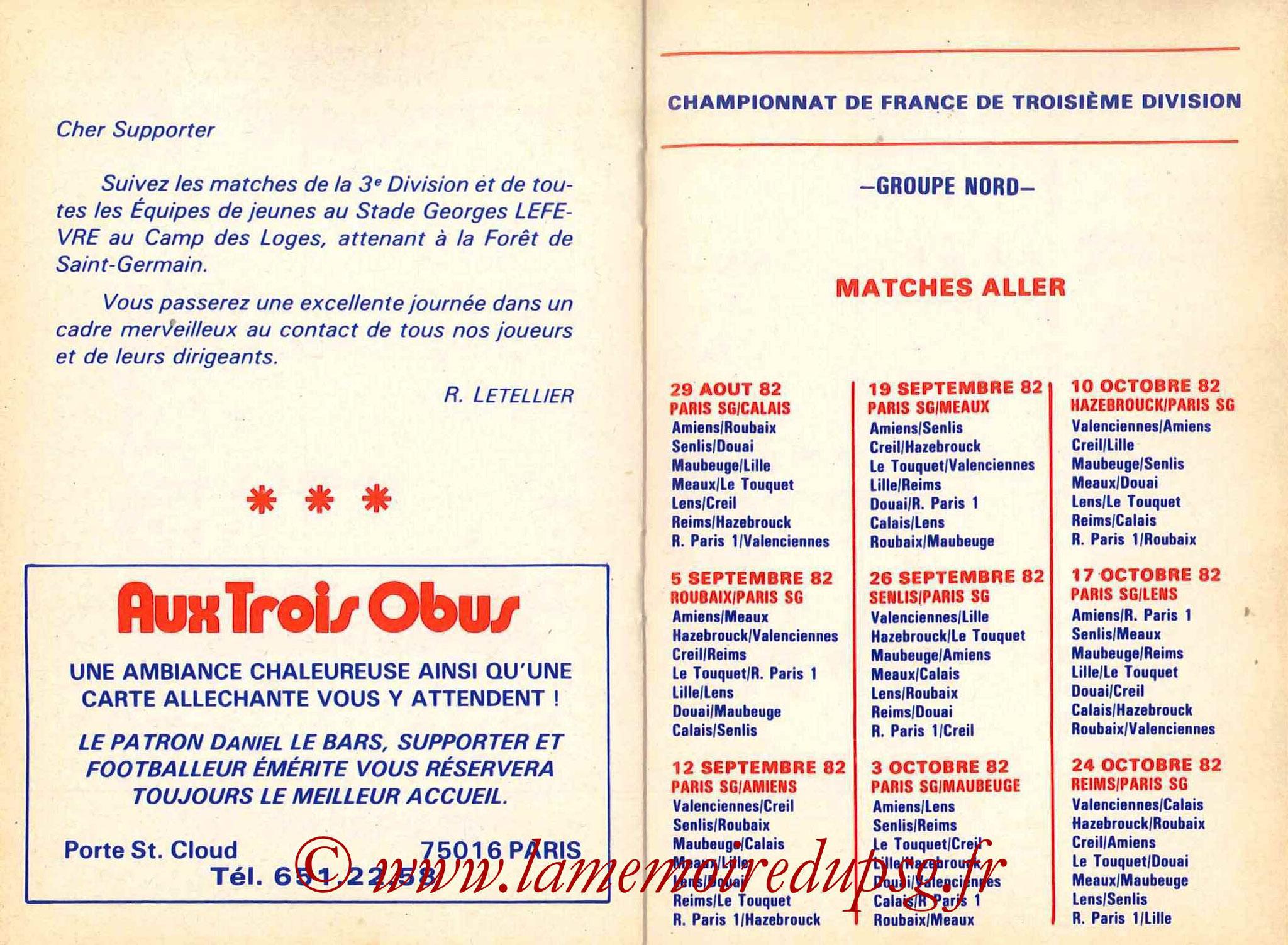 1982-83 - Guide de la Saison PSG - Pages 16 et 17