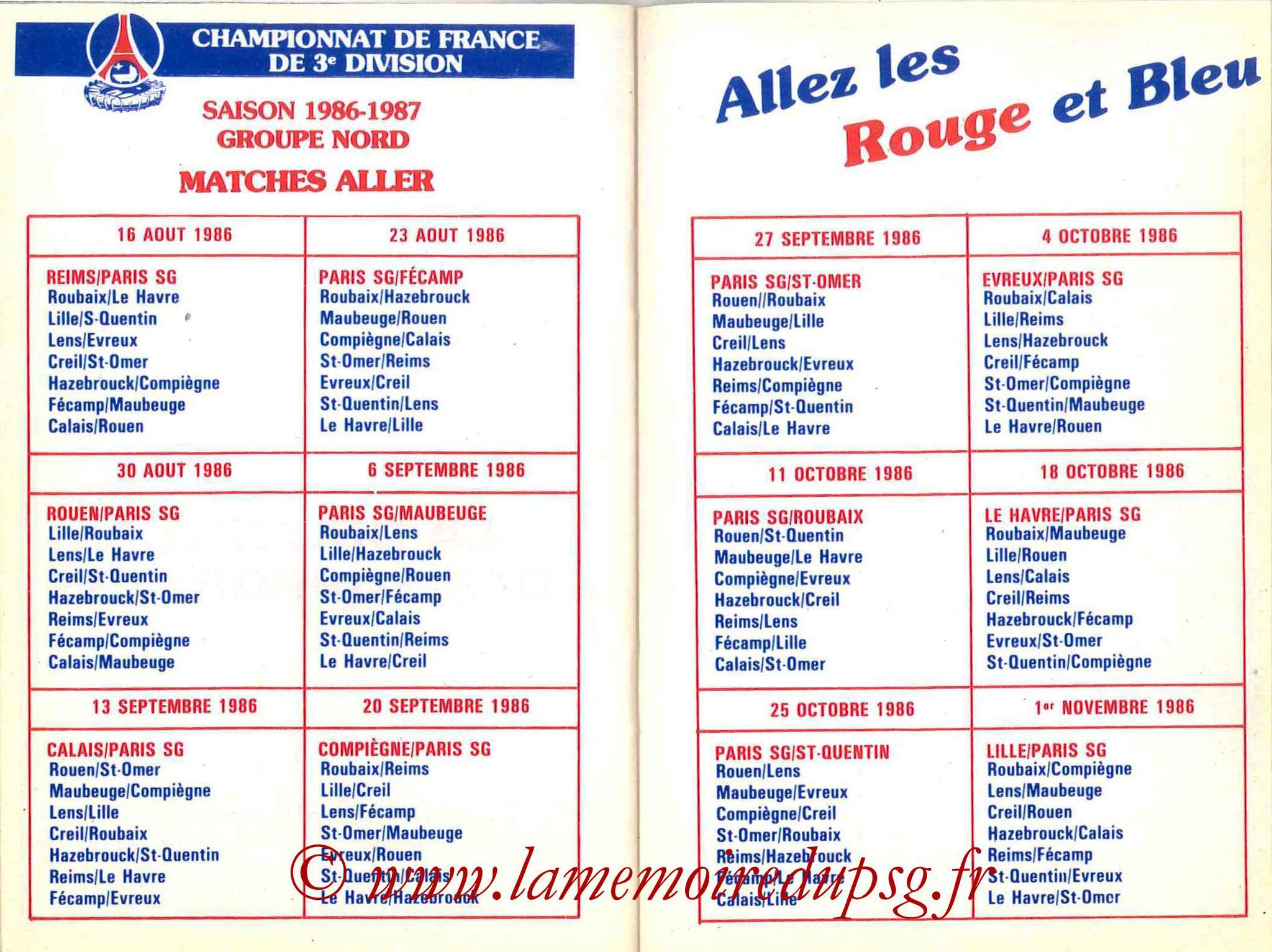 1986-87 - Guide de la Saison PSG - Pages 26 et 27
