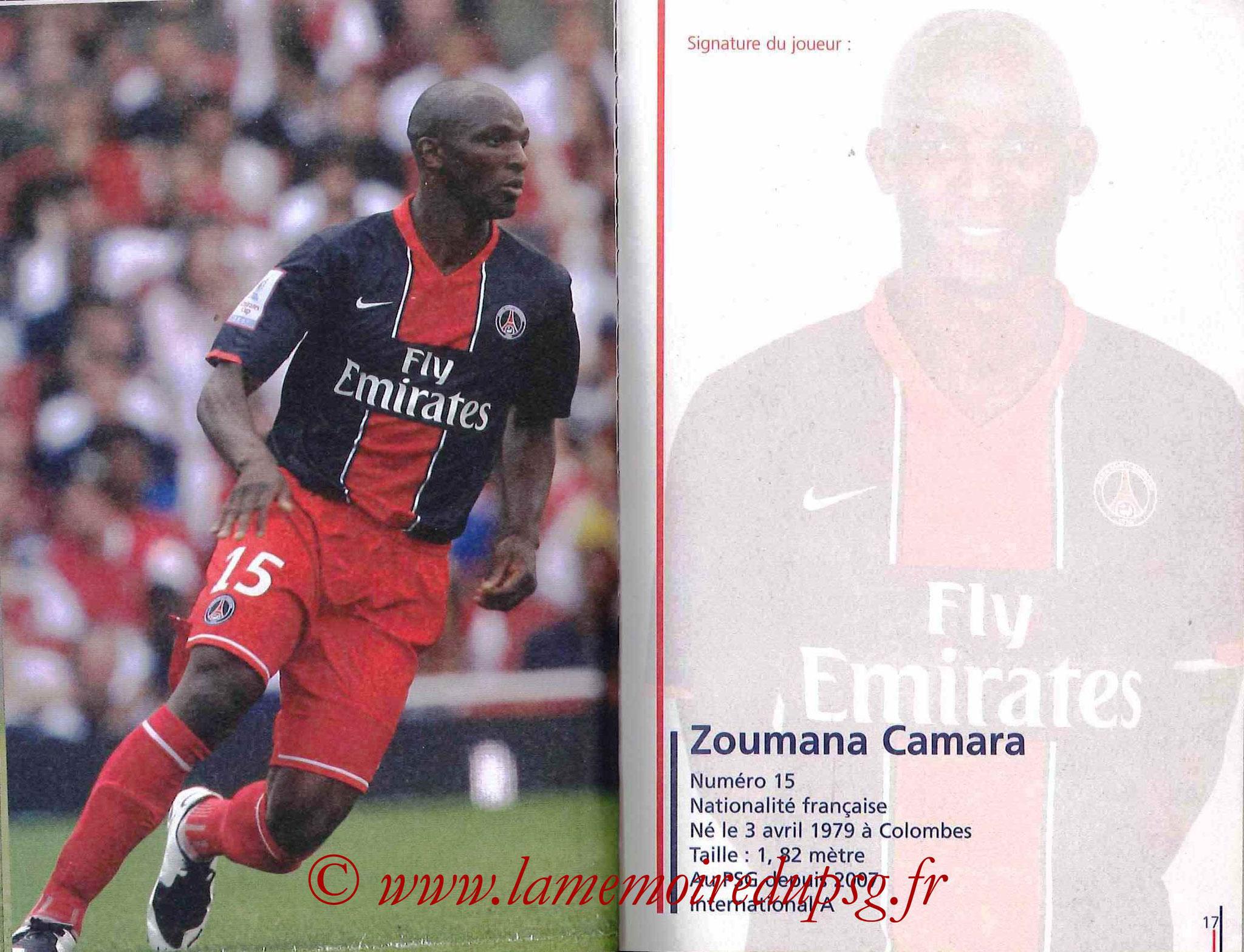 2007-08 - Guide de la Saison PSG - Pages 16 et 17 - Zoumana CAMARA