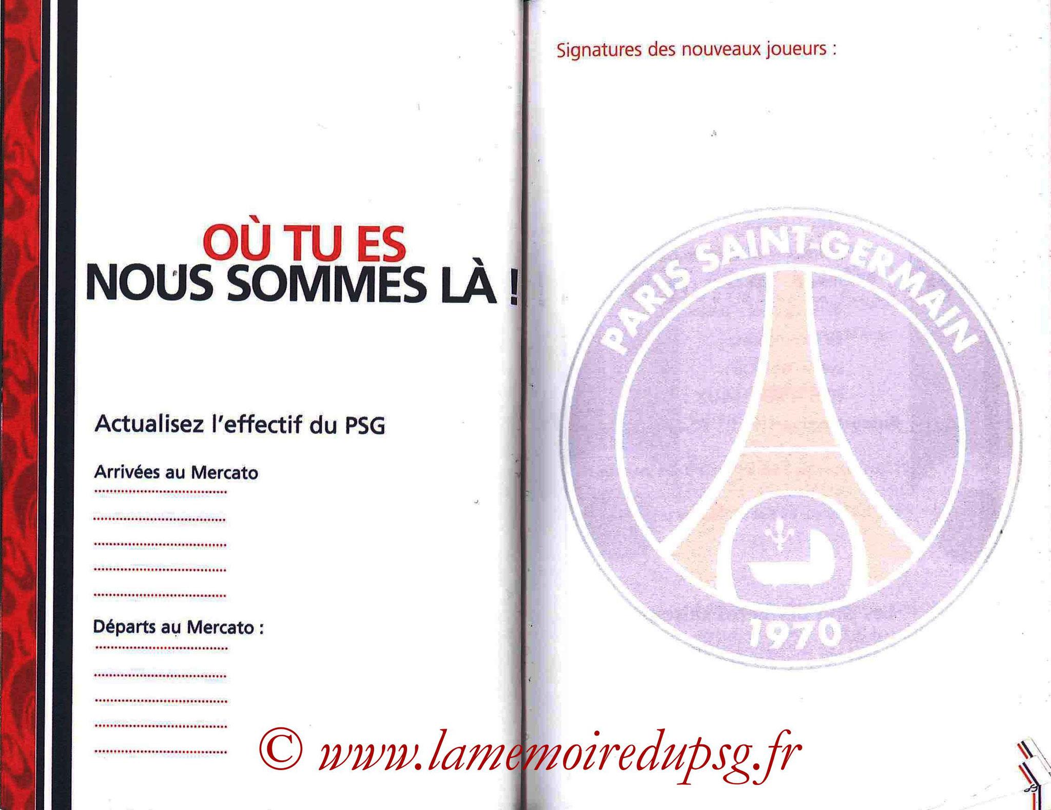 2007-08 - Guide de la Saison PSG - Pages 54 et 55