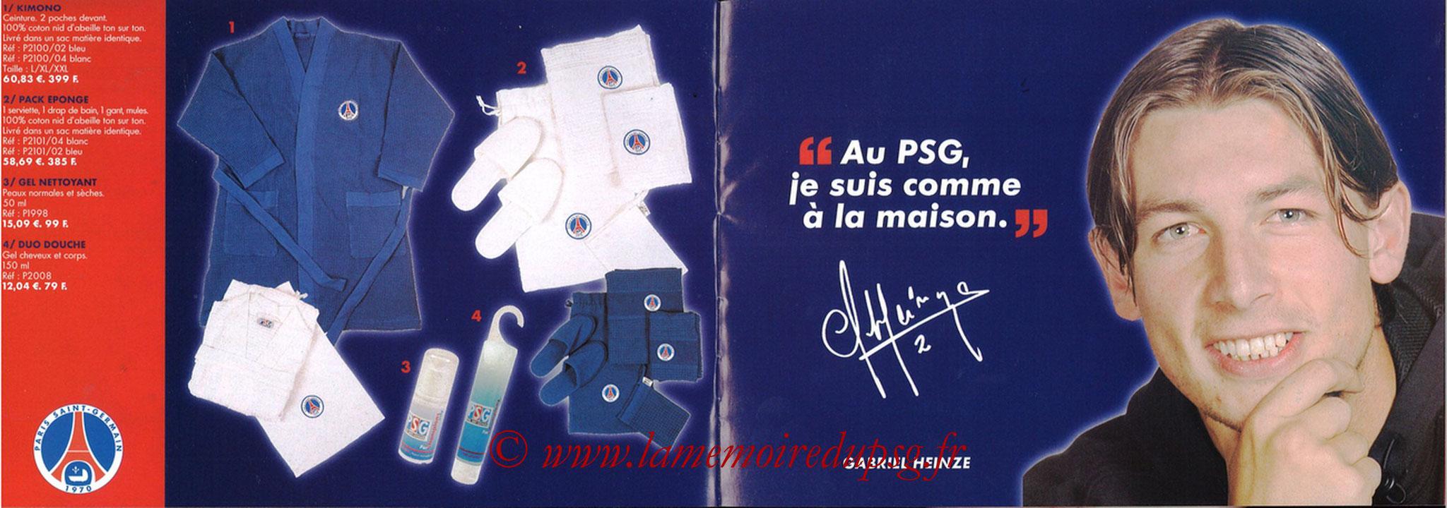 Catalogue PSG - 2001-02 - Noêl - Pages 18 et 19