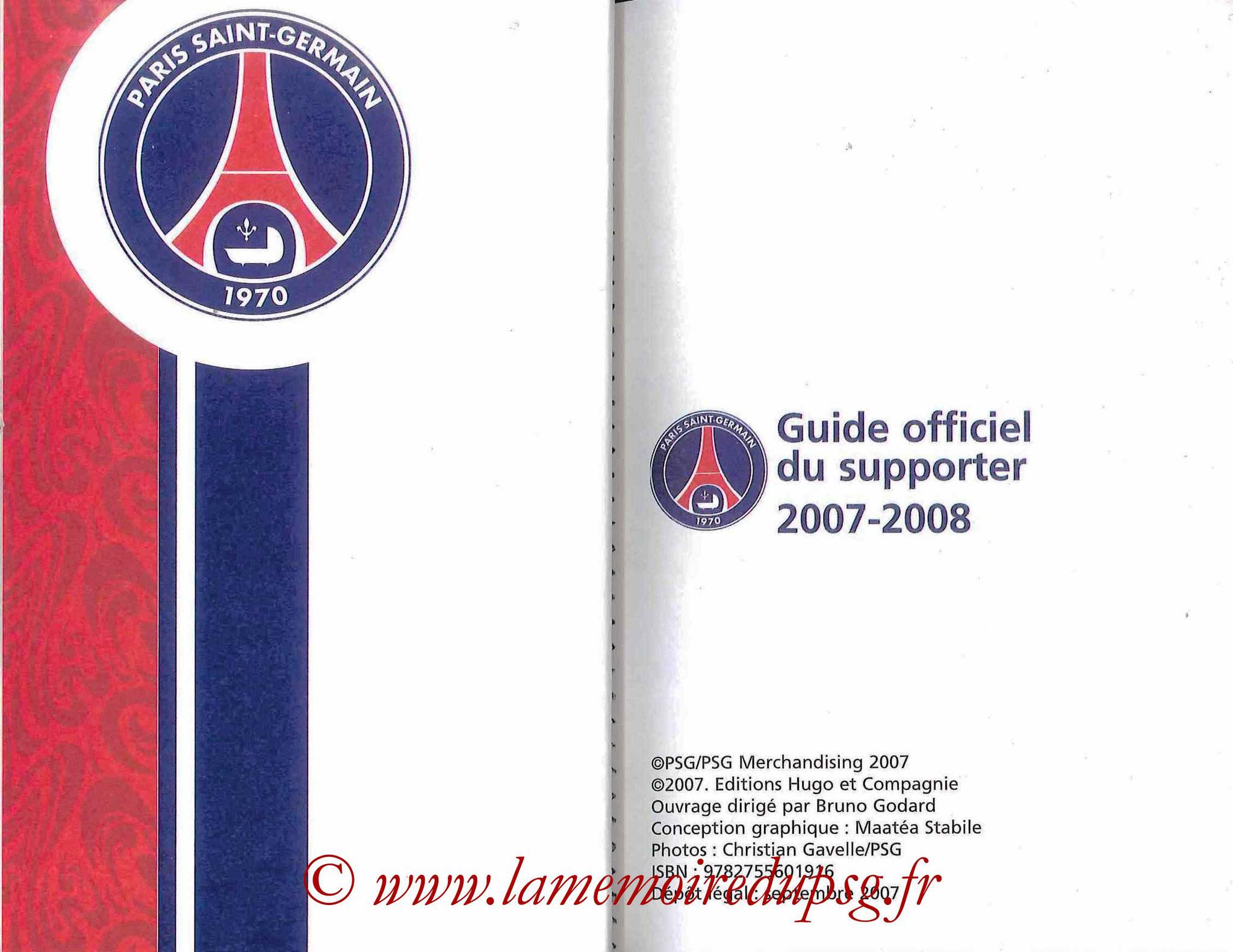 2007-08 - Guide de la Saison PSG - Pages 2 et 3
