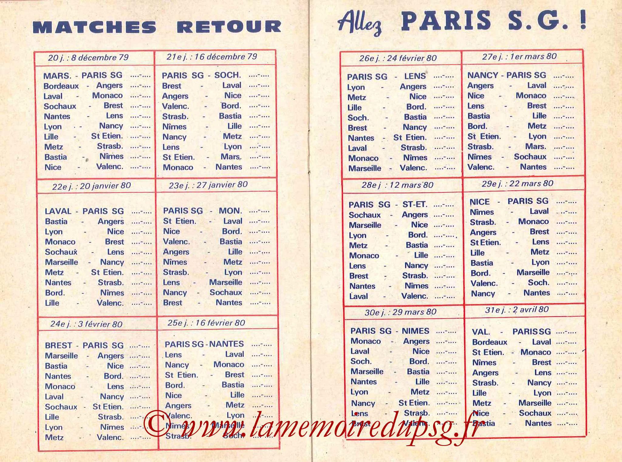 1979-80 - Guide de la Saison PSG - Pages 10 et 11