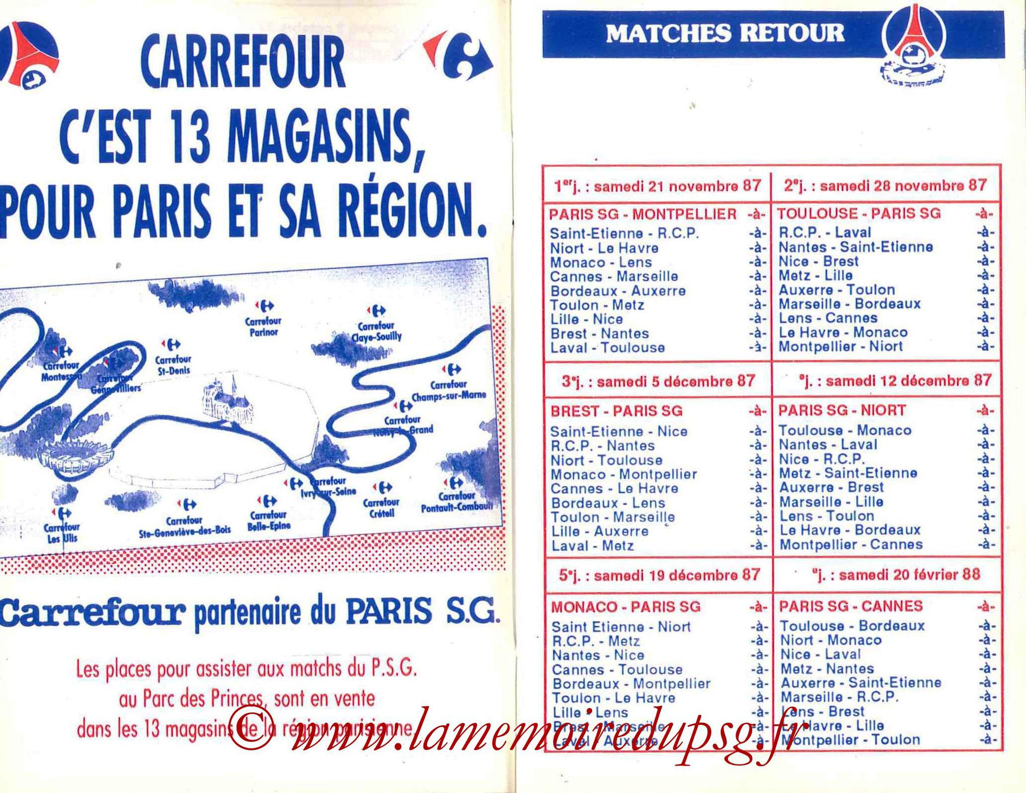 1987-88 - Guide de la Saison PSG - Pages 8 et 9