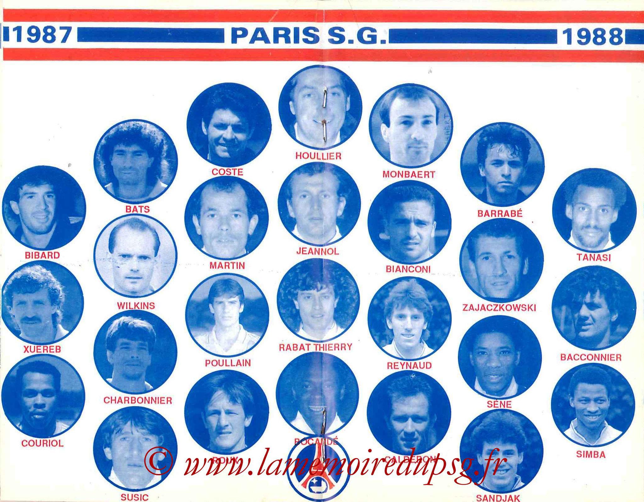 1987-88 - Guide de la Saison PSG - Pages 18 et 19