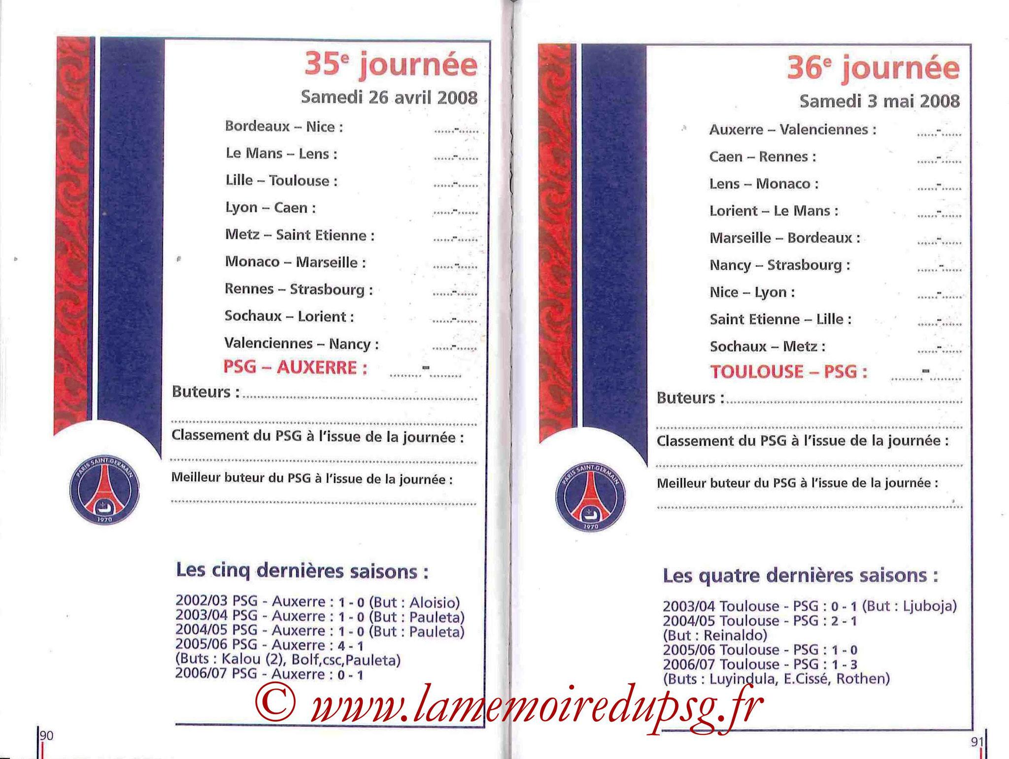 2007-08 - Guide de la Saison PSG - Pages 90 et 91