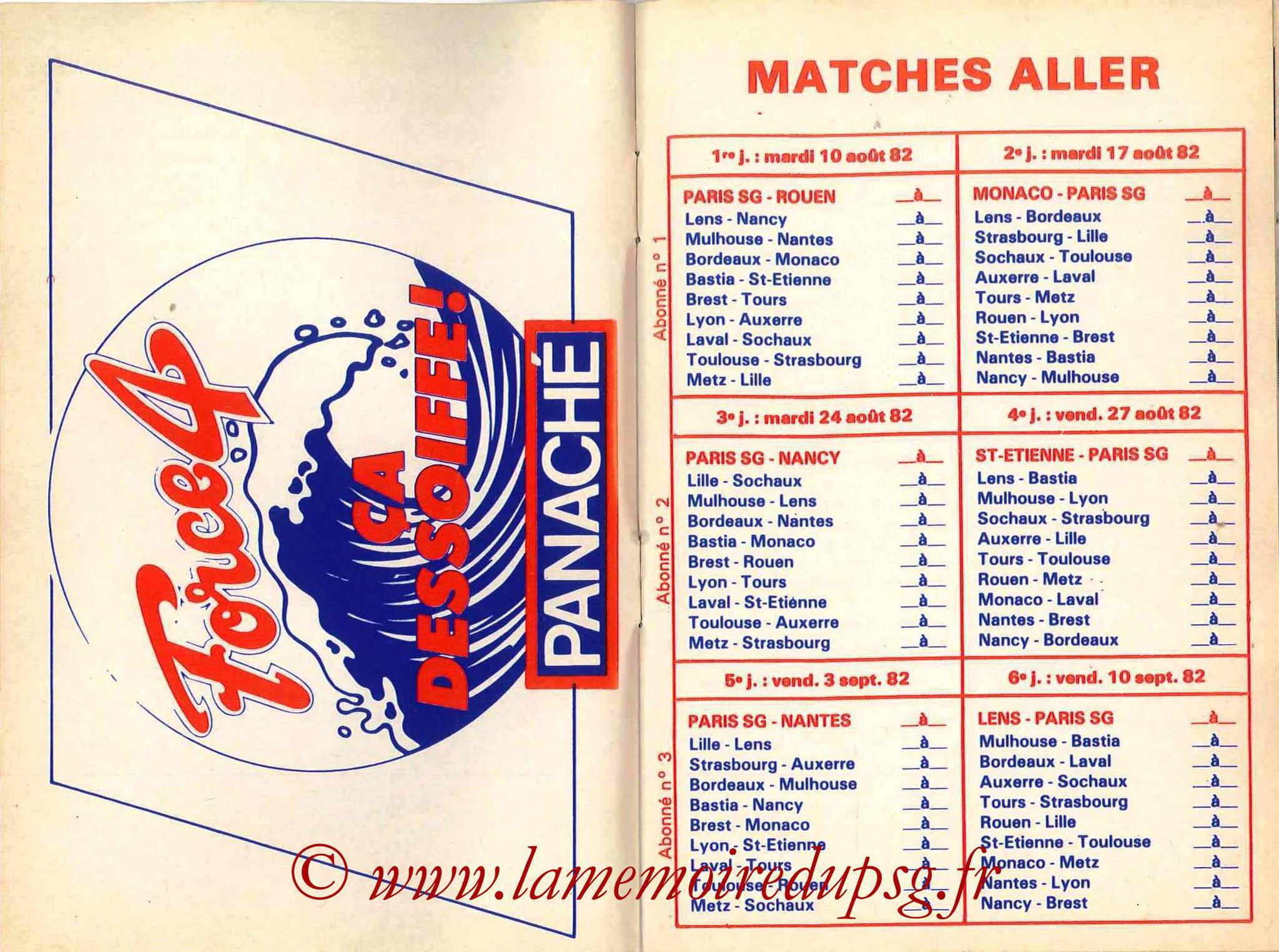 1982-83 - Guide de la Saison PSG - Pages 4 et 5