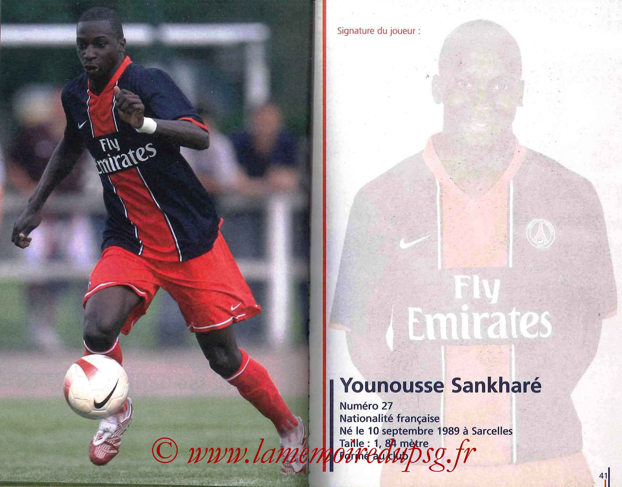 2007-08 - Guide de la Saison PSG - Pages 40 et 41 - Younousse SANKHARE