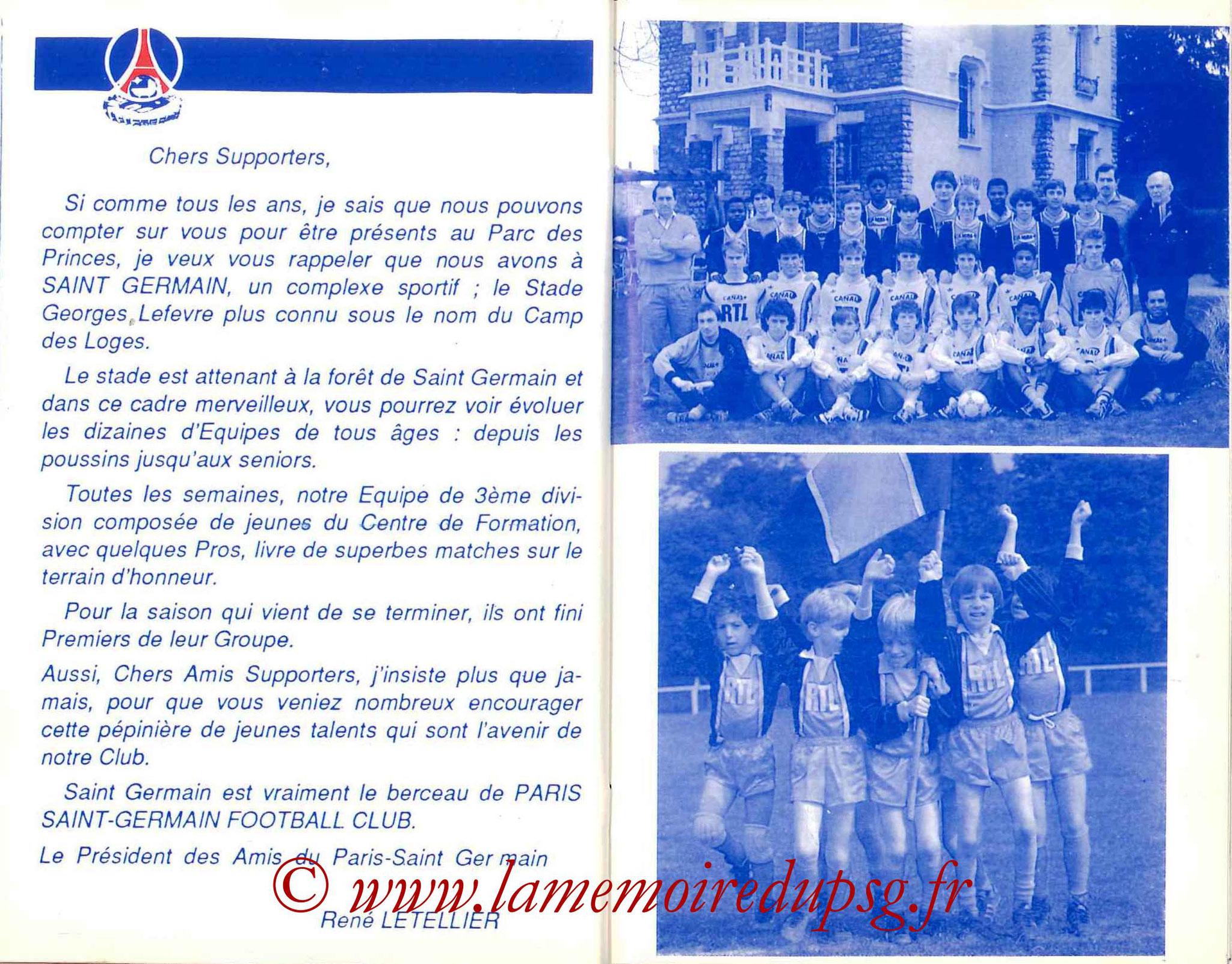 1987-88 - Guide de la Saison PSG - Pages 24 et 25