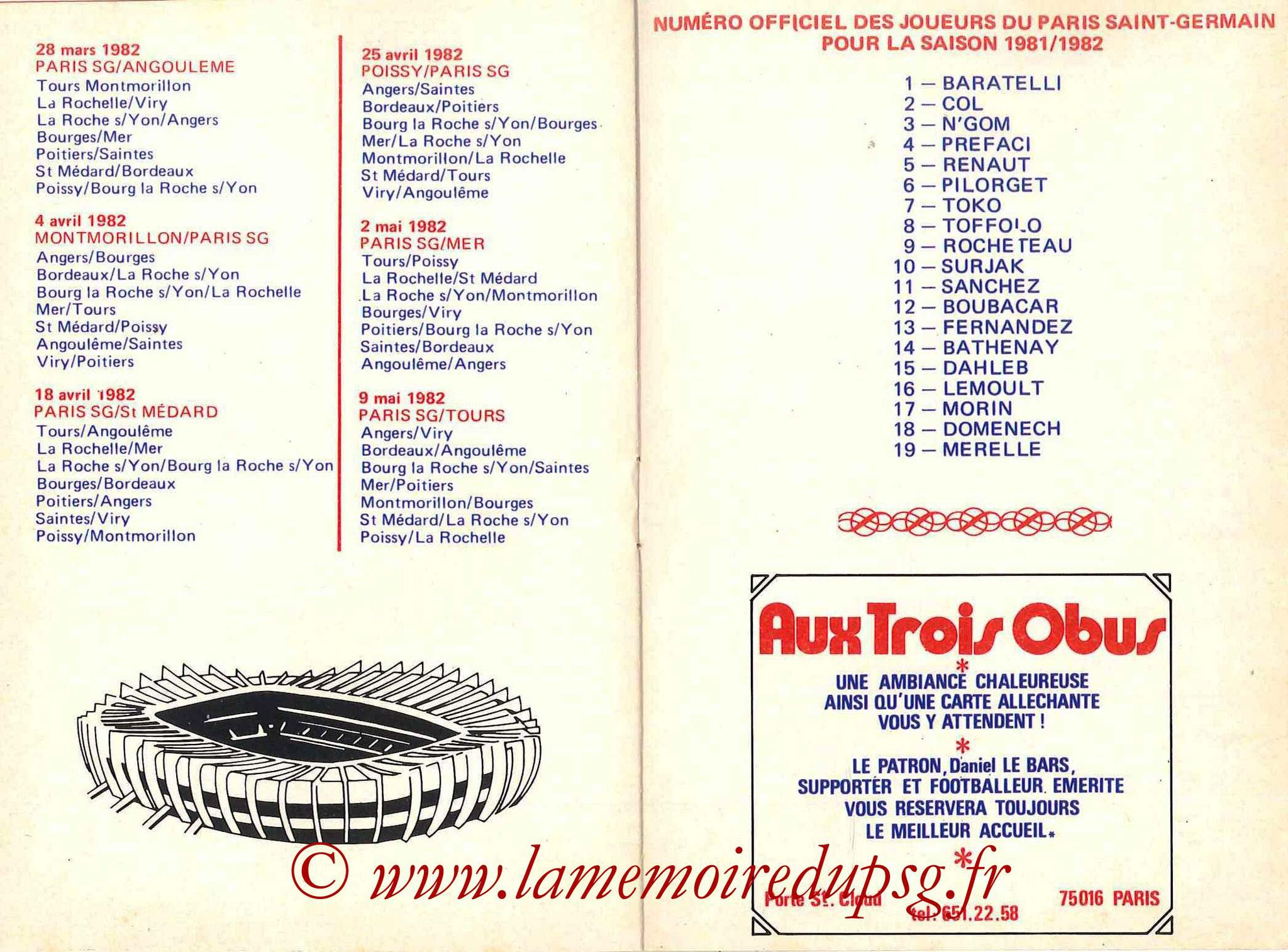 1981-82 - Guide de la Saison PSG - Pages 16 et 17