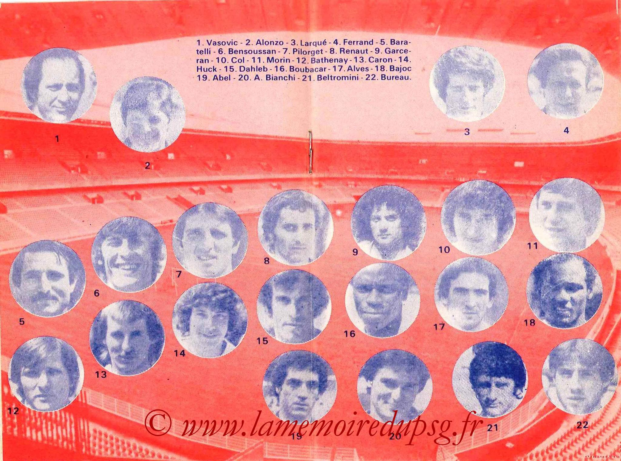 1979-80 - Guide de la Saison PSG - Pages 8 et 9