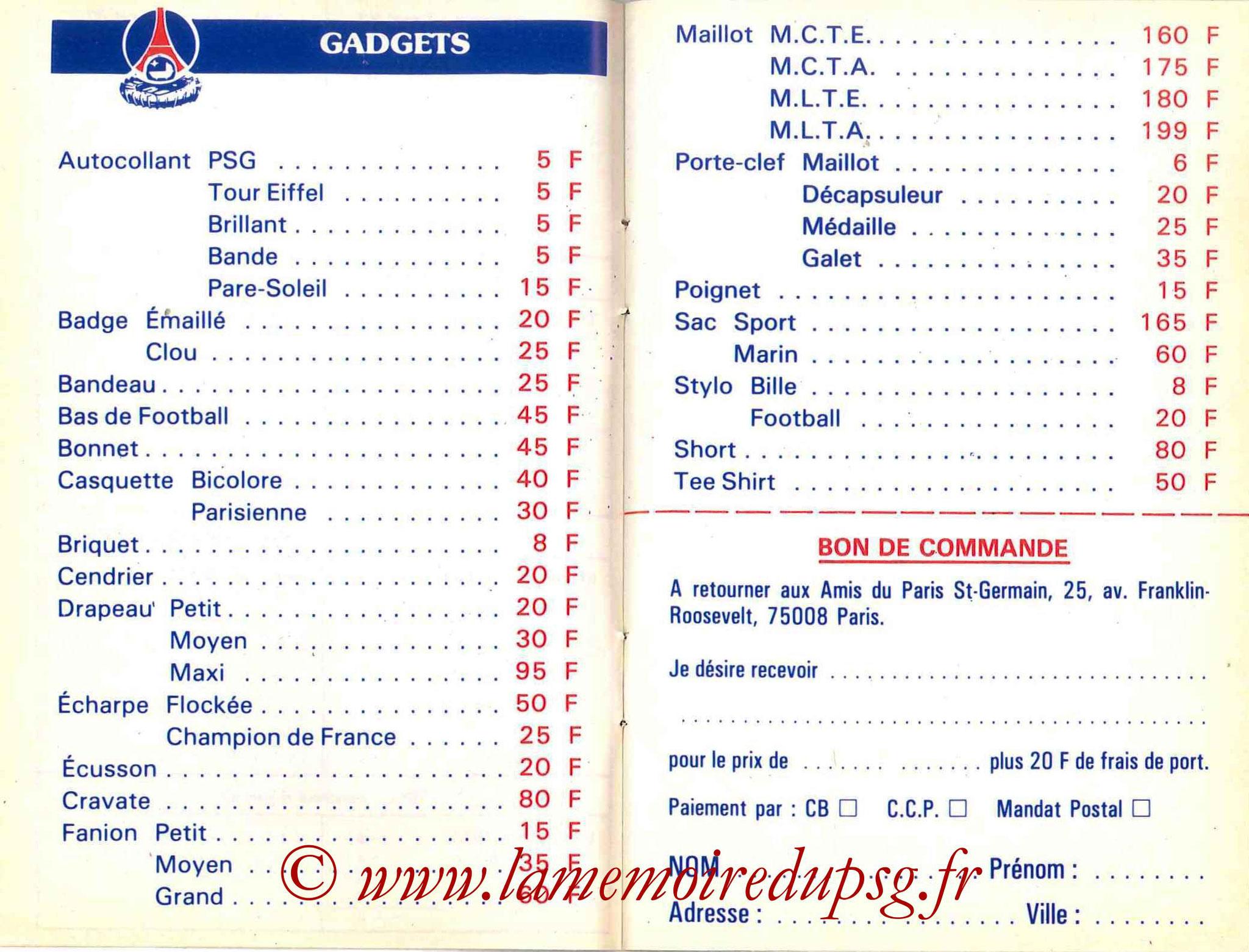 1986-87 - Guide de la Saison PSG - Pages 12 et 13