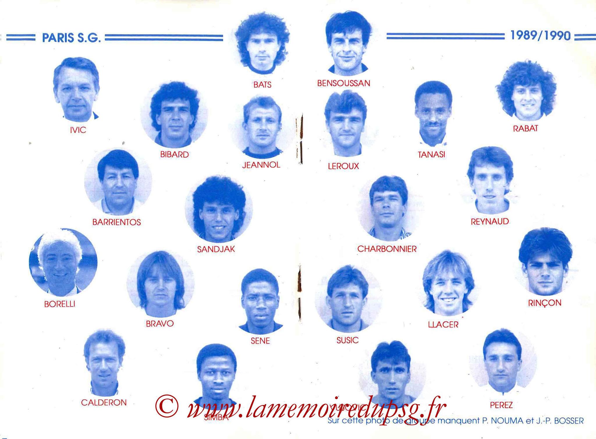1989-90 - Guide de la Saison PSG - Pages 18 et 19