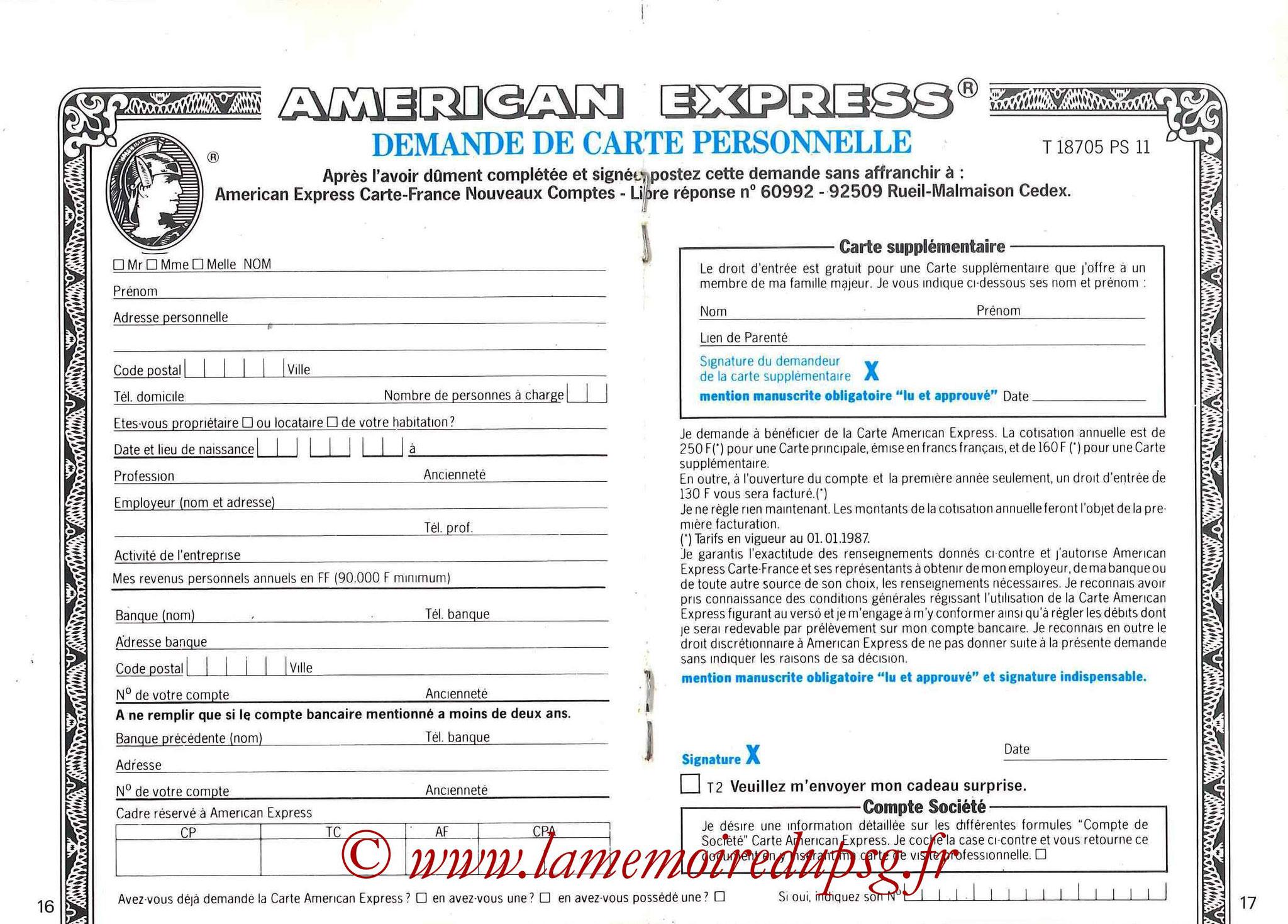 1987-88 - Passeport Abonné du PSG - Pages 16 et 17