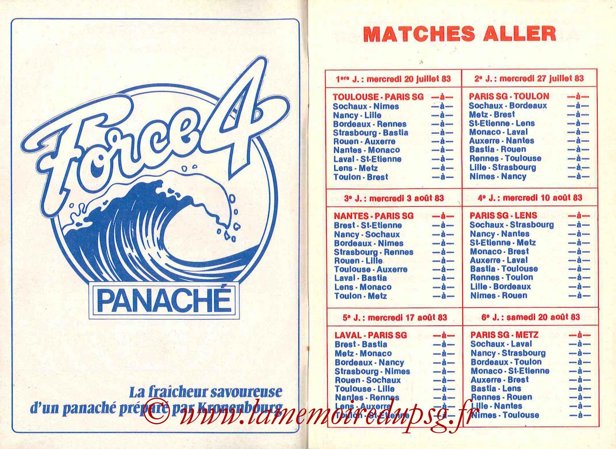 1983-84 - Guide de la Saison PSG - Pages 4 et 5