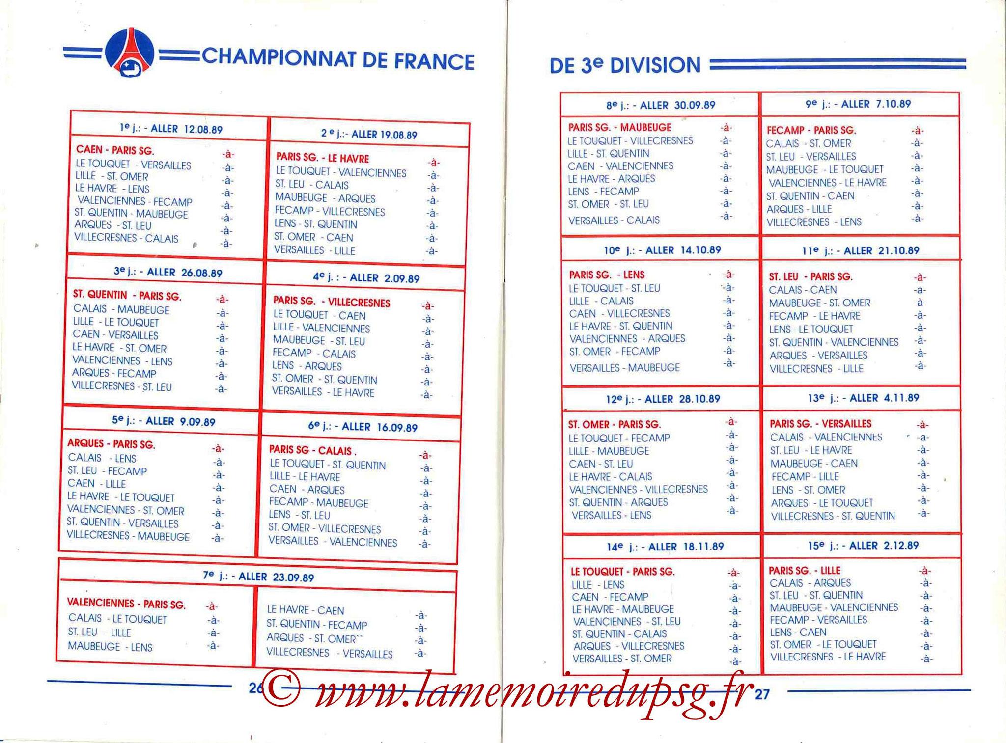 1989-90 - Guide de la Saison PSG - Pages 26 et 27