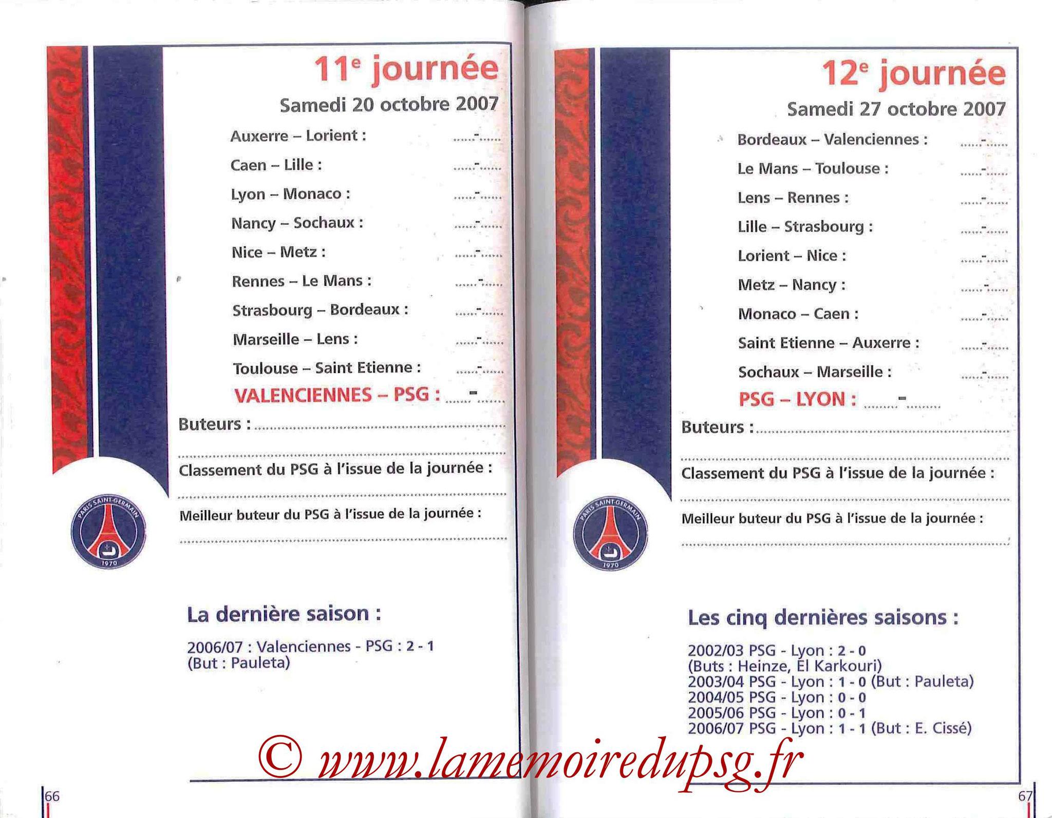 2007-08 - Guide de la Saison PSG - Pages 66 et 67