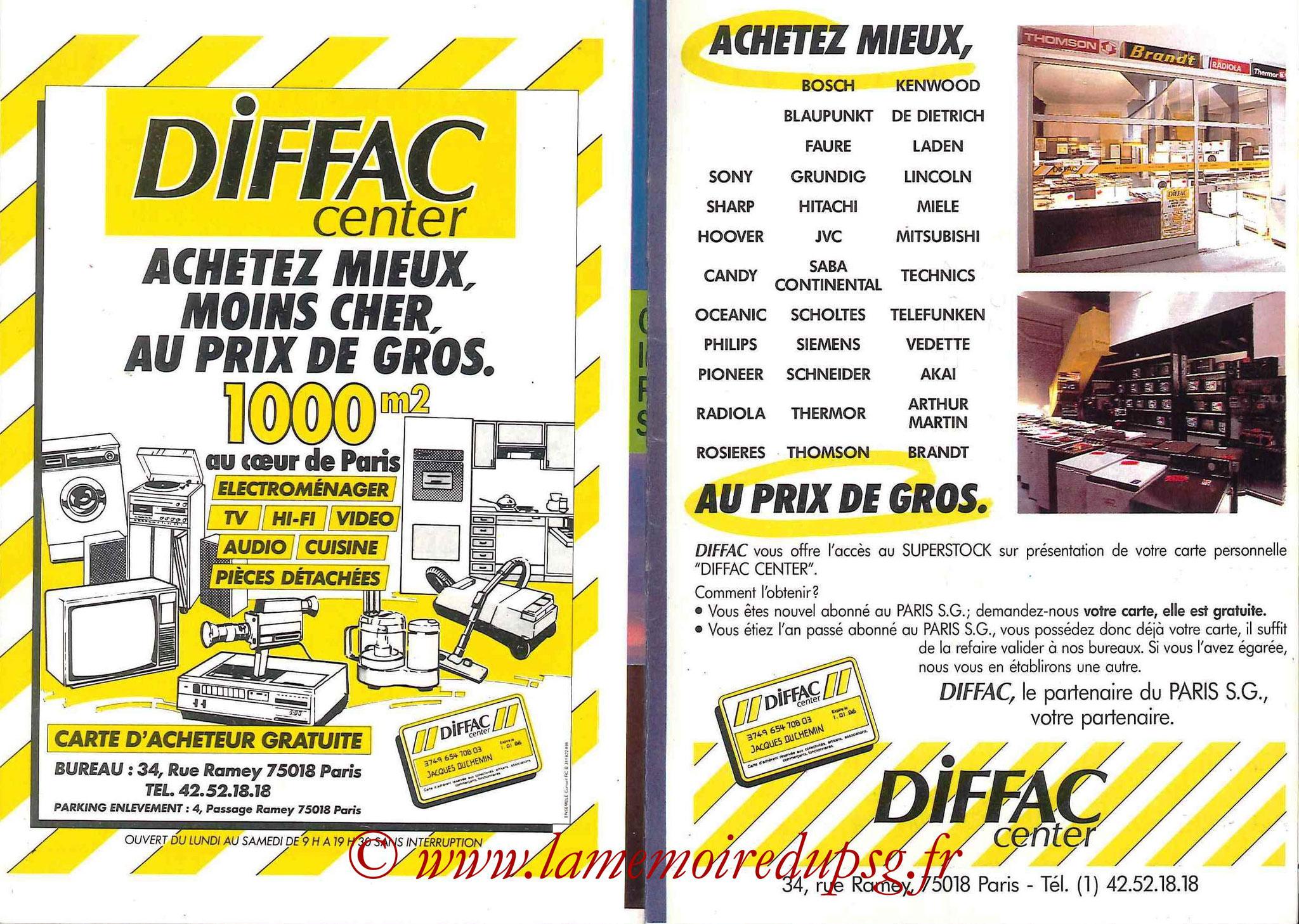 1988-89 - Passeport Abonné du PSG - Pages 28 et 29