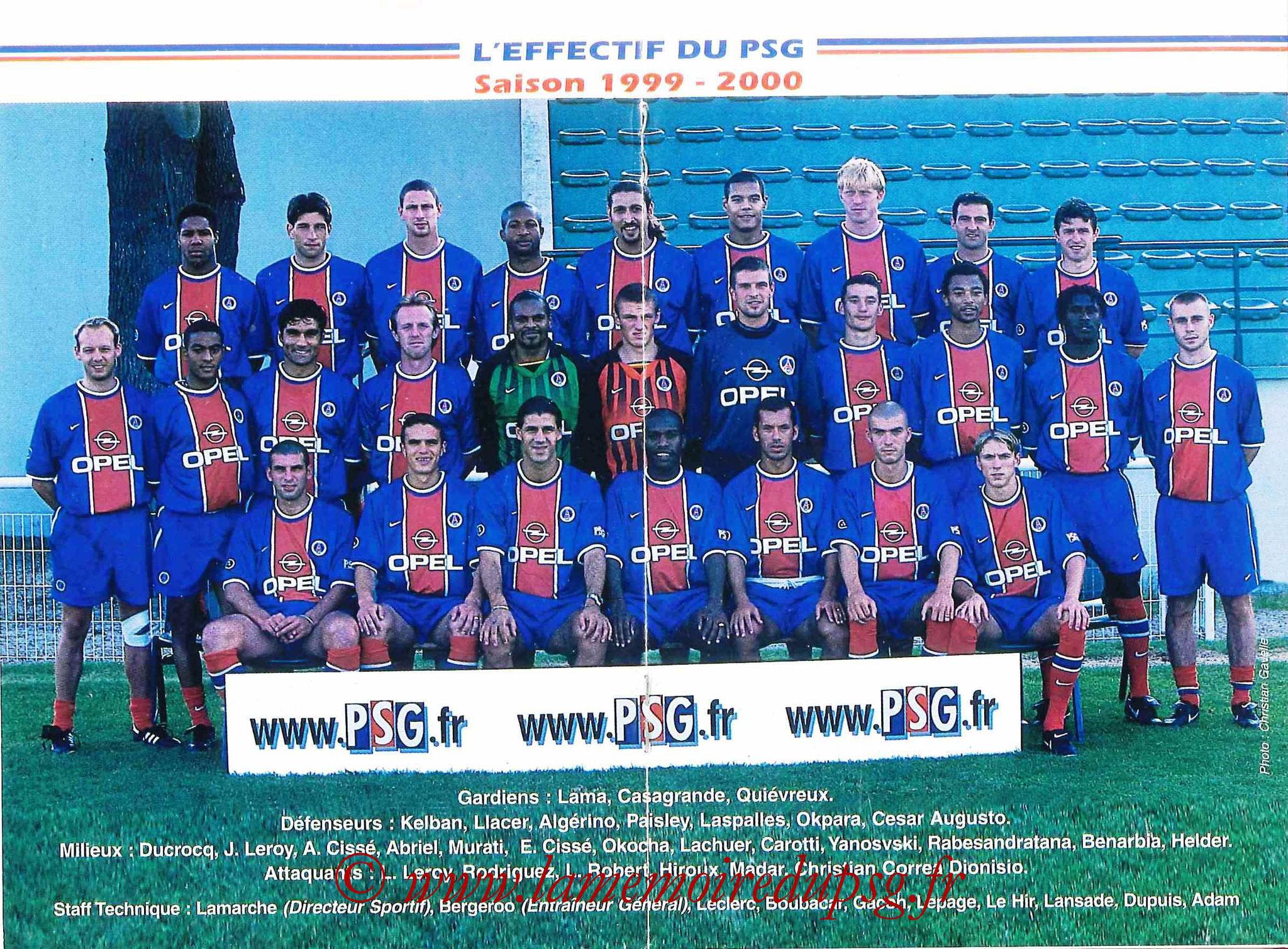 1999-00 - Guide de la Saison PSG - Pages 8 et 9