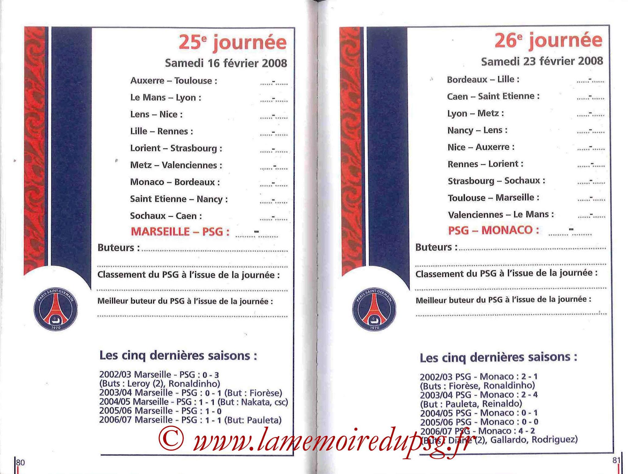 2007-08 - Guide de la Saison PSG - Pages 80 et 81