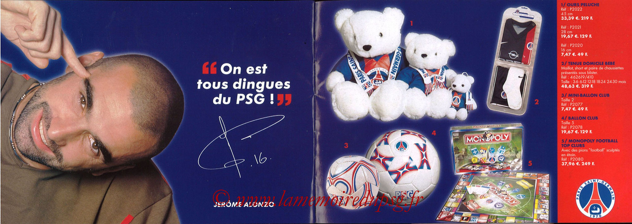 Catalogue PSG - 2001-02 - Noêl - Pages 20 et 21
