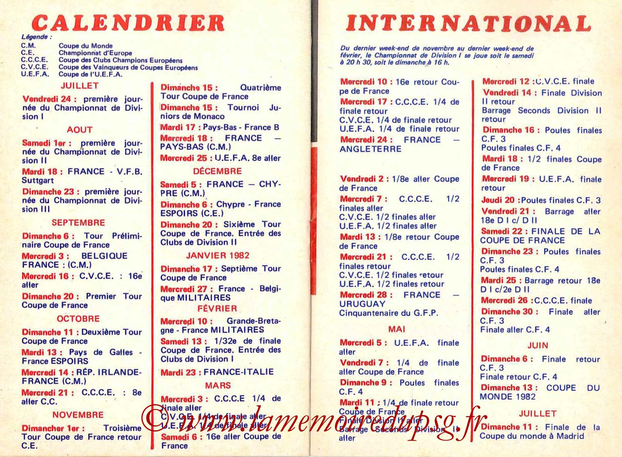 1981-82 - Guide de la Saison PSG - Pages 18 et 19