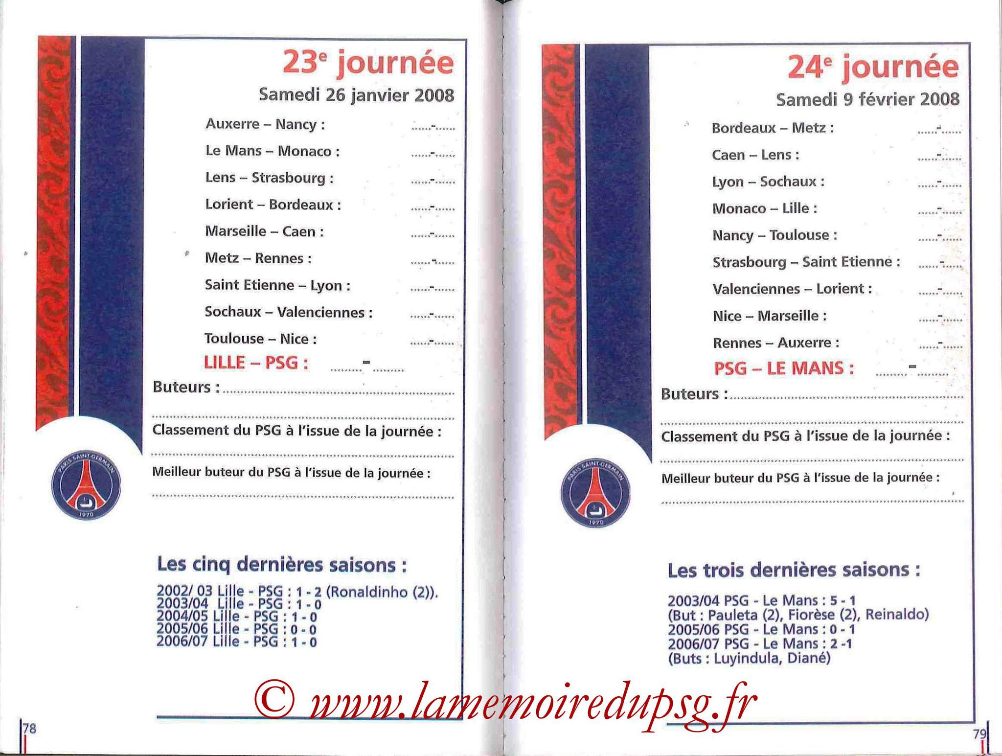 2007-08 - Guide de la Saison PSG - Pages 78 et 79