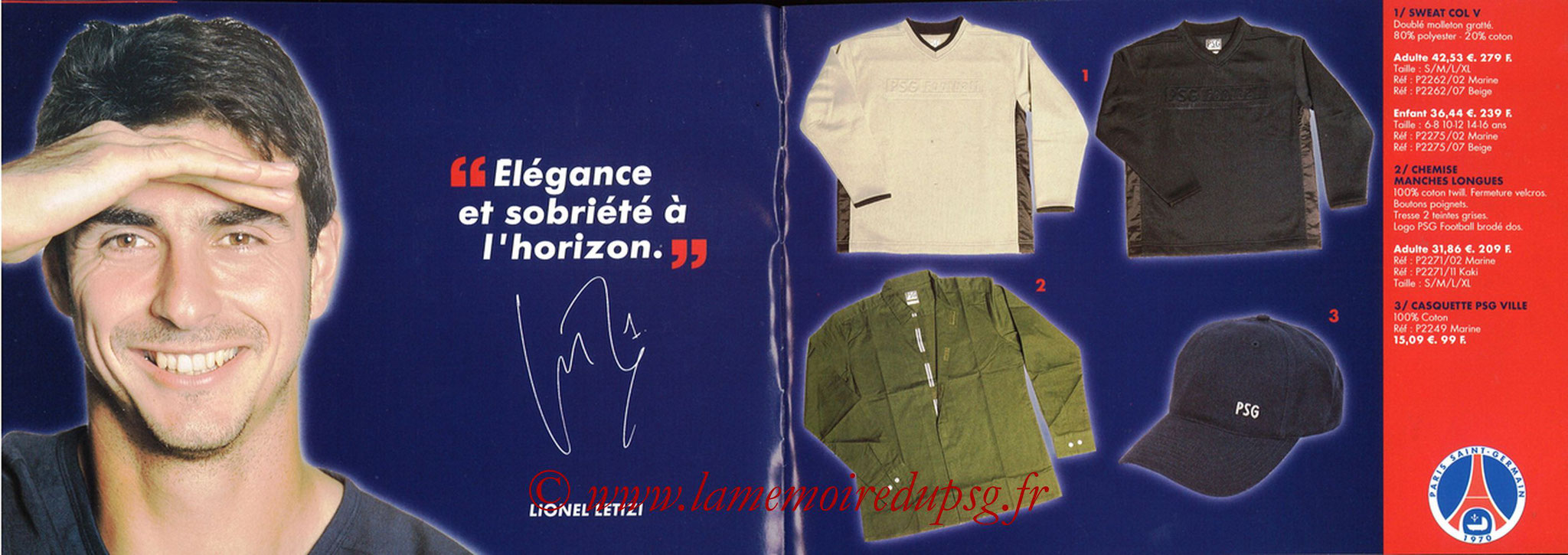 Catalogue PSG - 2001-02 - Noêl - Pages 06 et 07