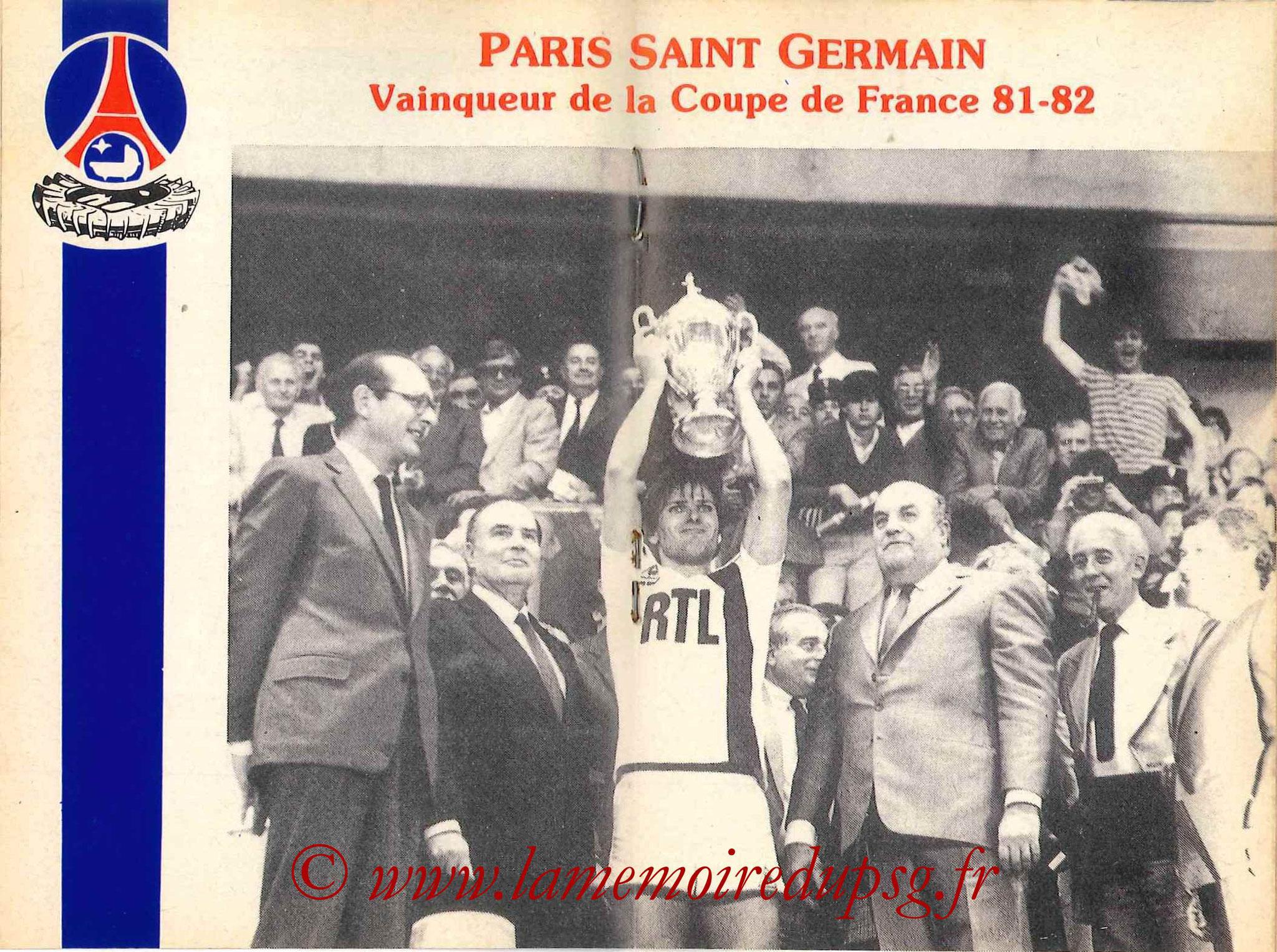 1982-83 - Guide de la Saison PSG - Pages 12 et 13