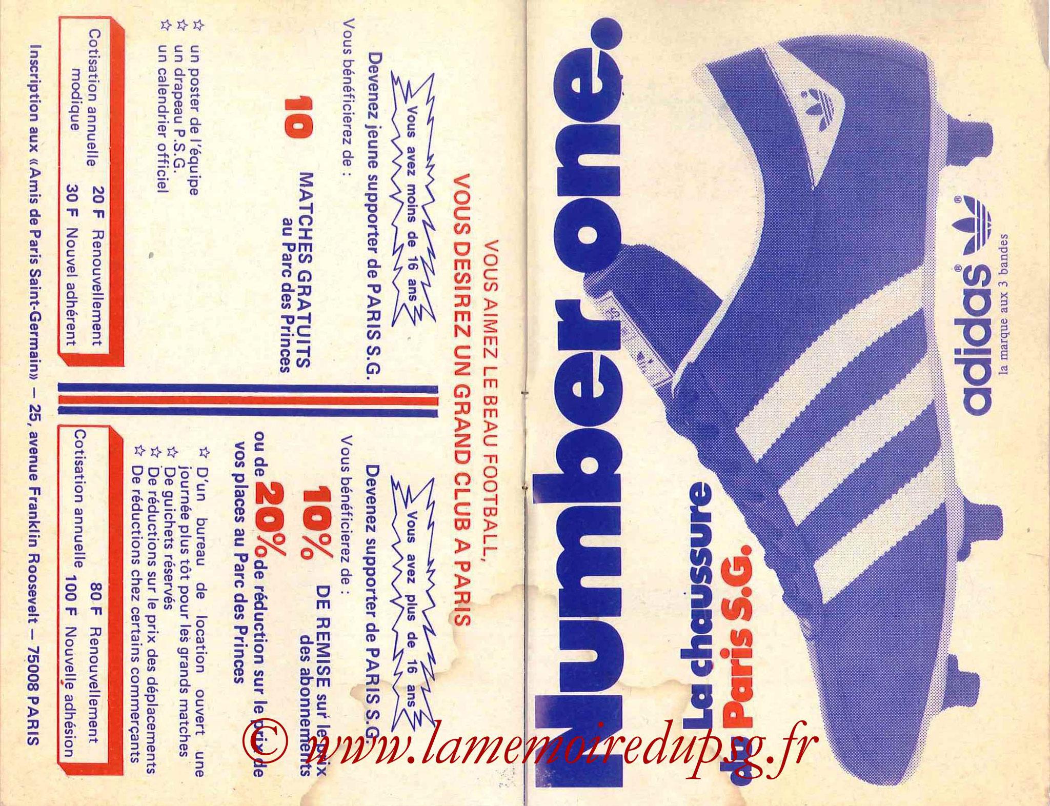 1978-79 - Guide de la Saison PSG - Pages 14 et 15