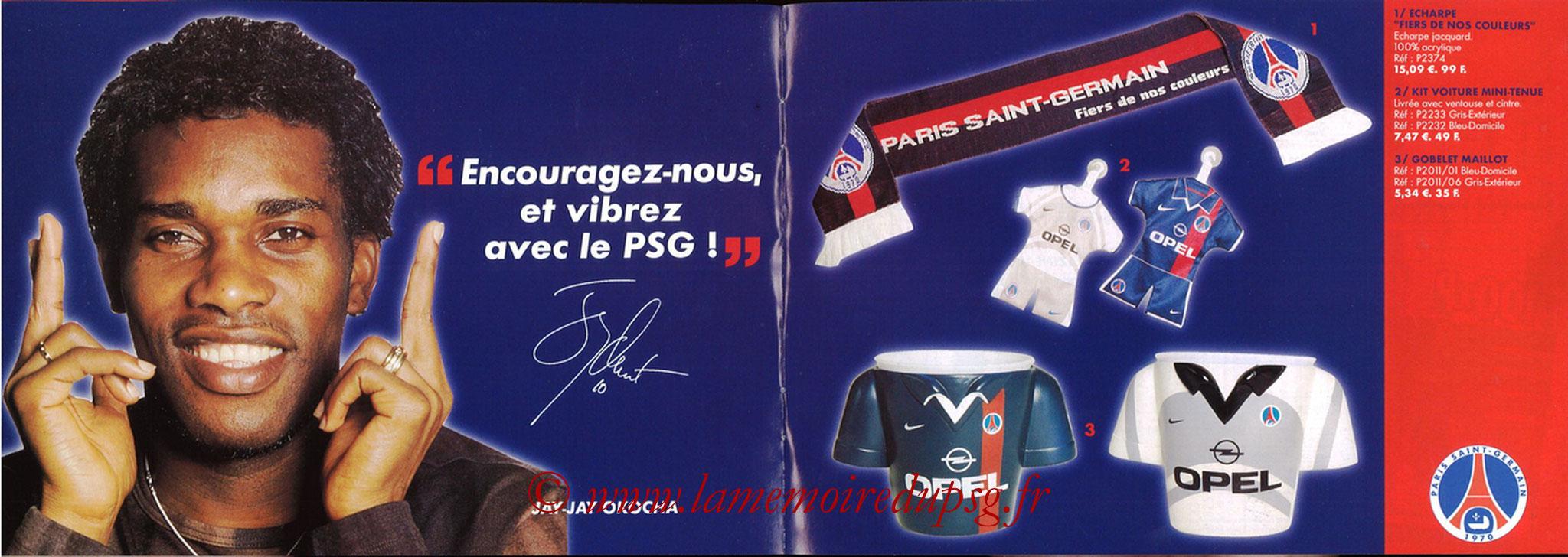 Catalogue PSG - 2001-02 - Noêl - Pages 10 et 11