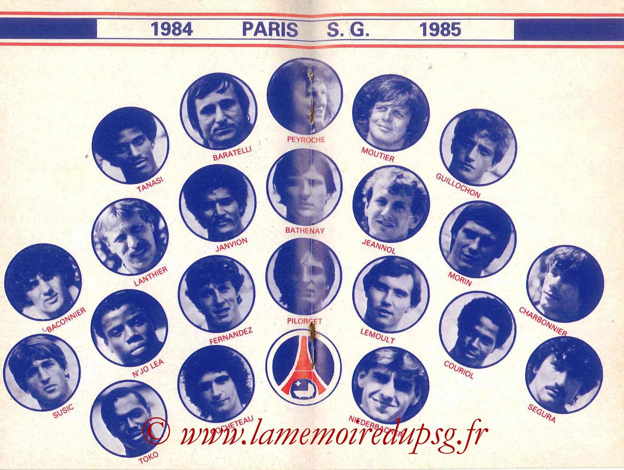 1984-85 - Guide de la Saison PSG - Pages 16 et 17