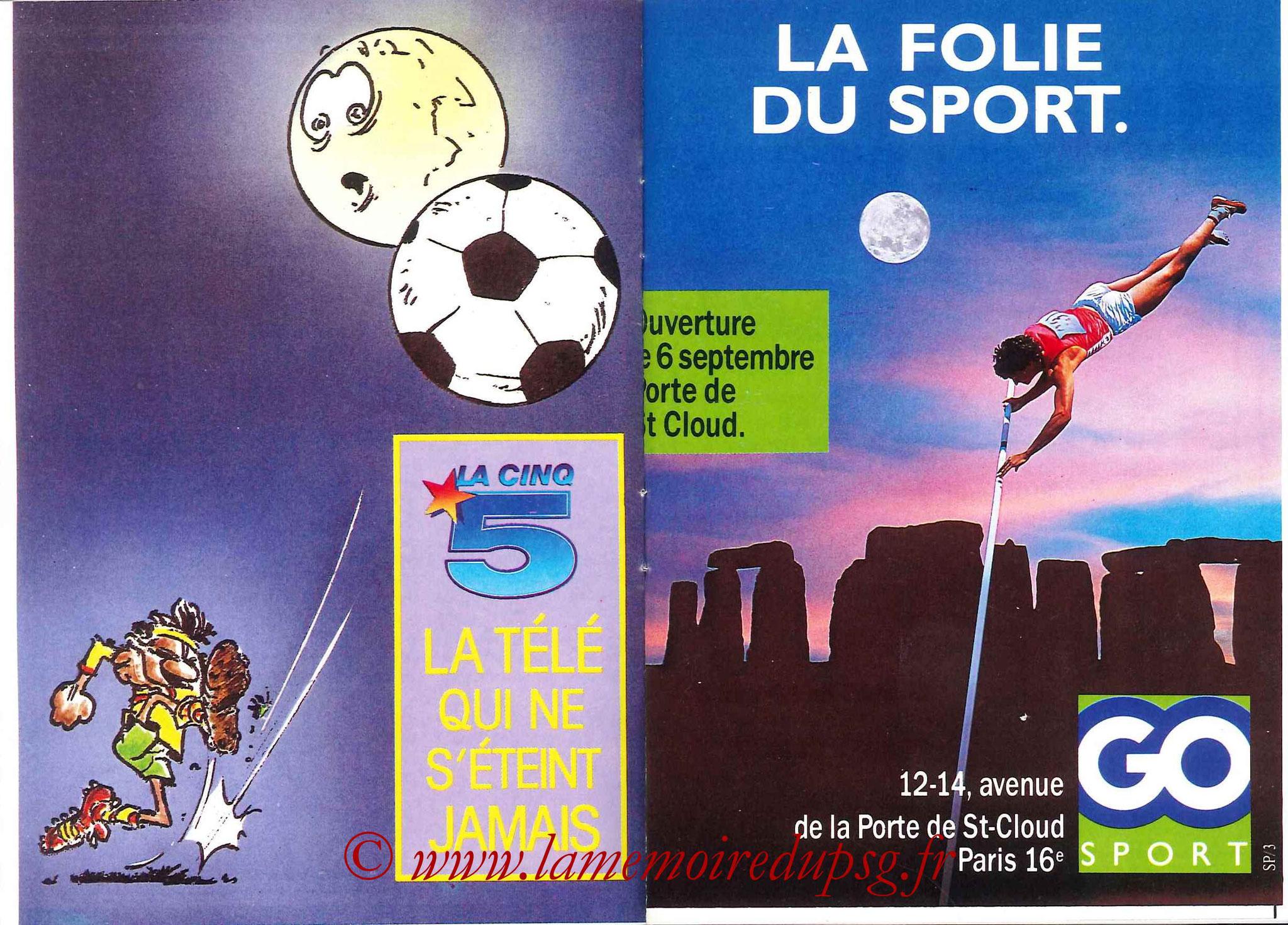 1988-89 - Passeport Abonné du PSG - Pages 4 et 5