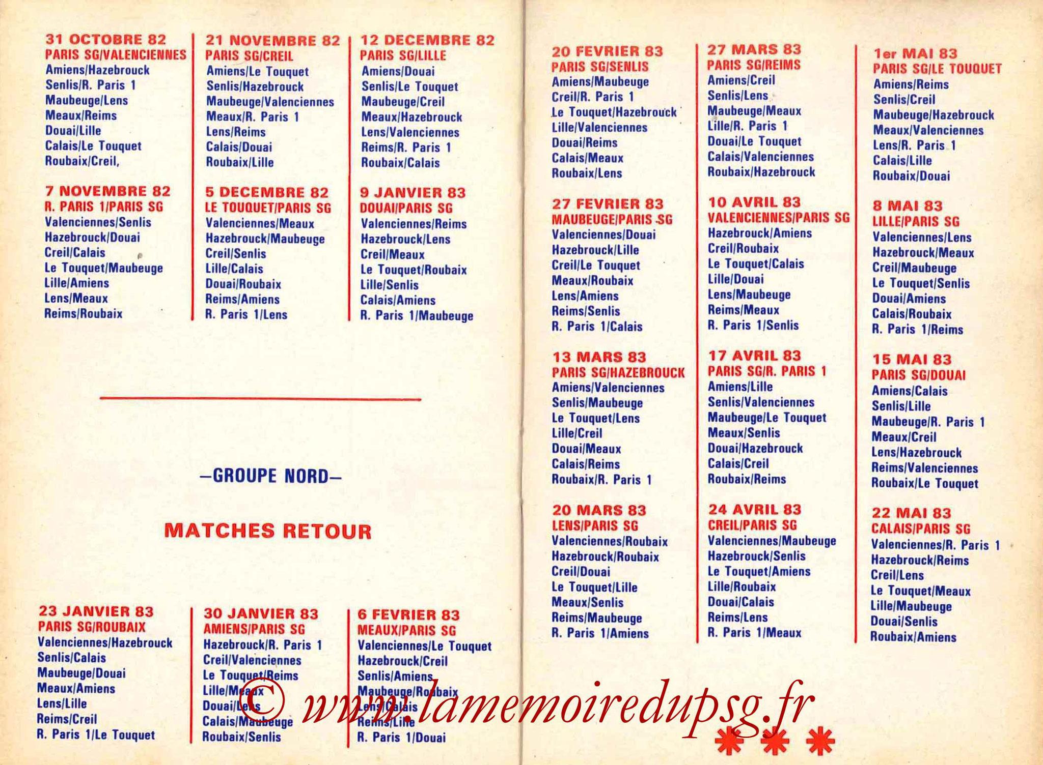 1982-83 - Guide de la Saison PSG - Pages 18 et 19