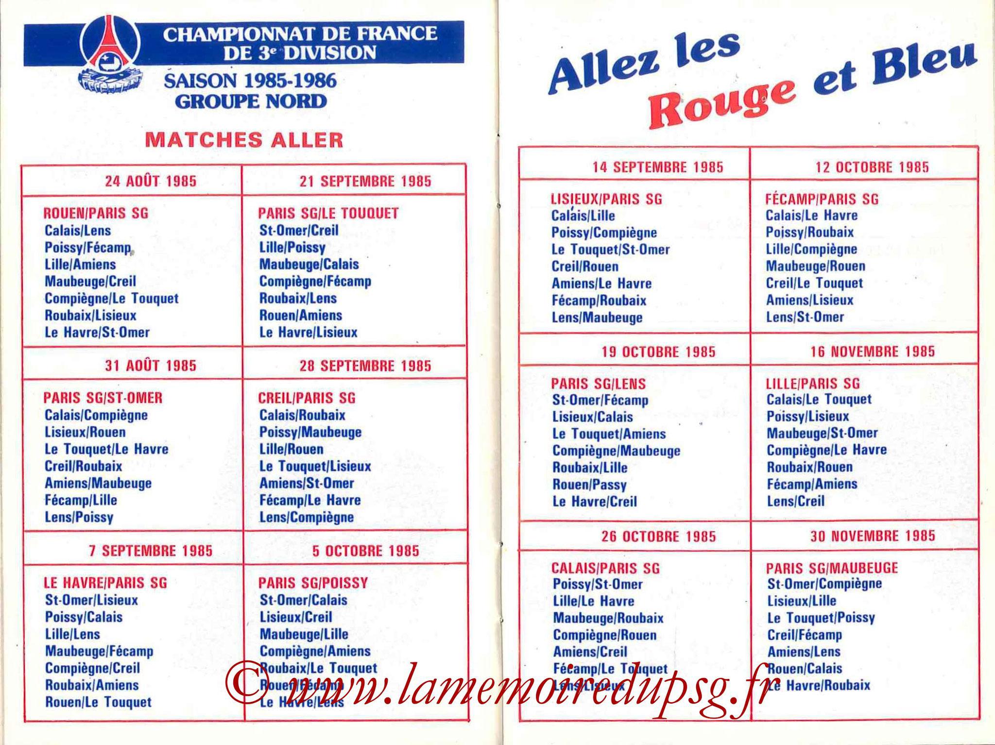 1985-86 - Guide de la Saison PSG - Pages 26 et 27