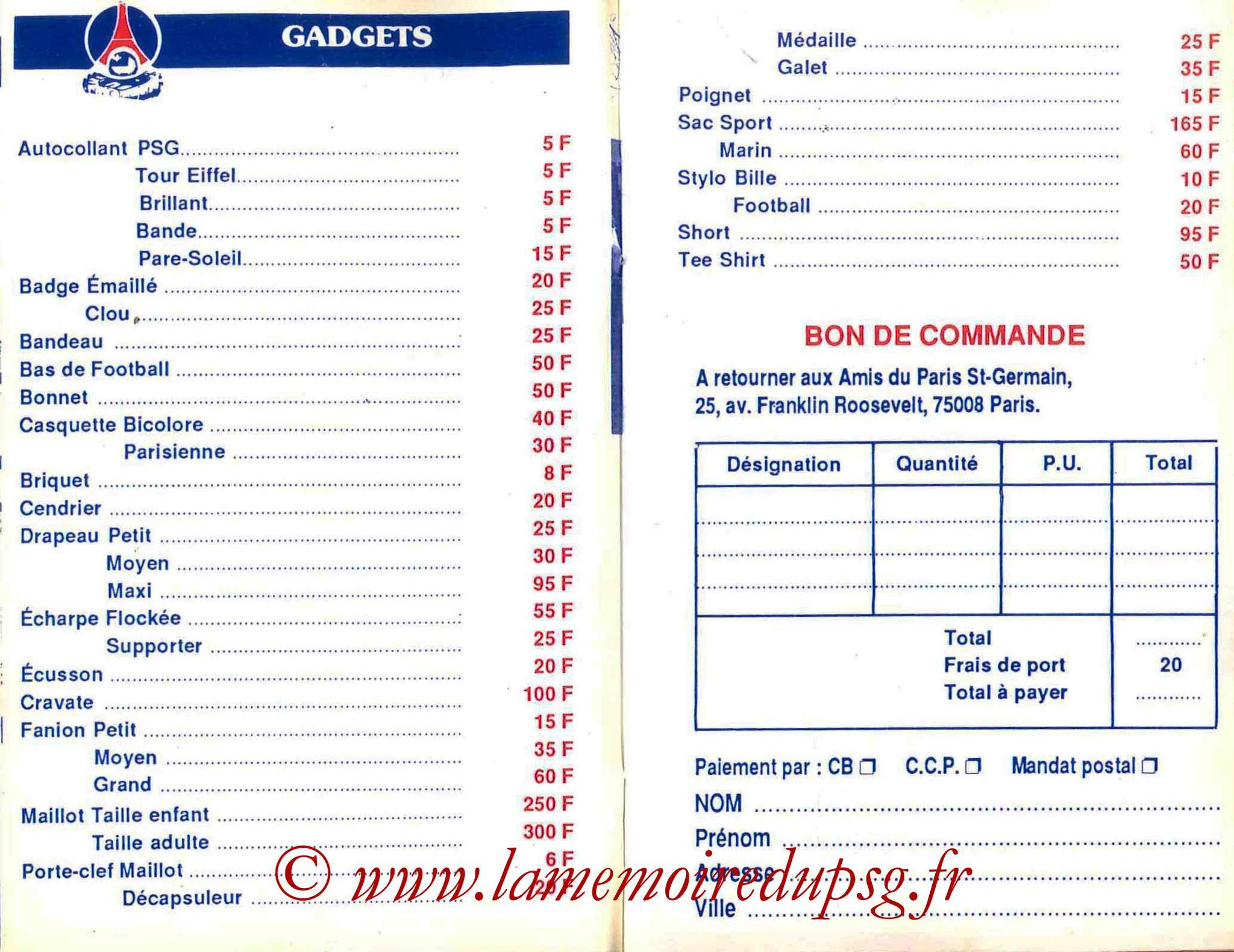 1987-88 - Guide de la Saison PSG - Pages 12 et 13