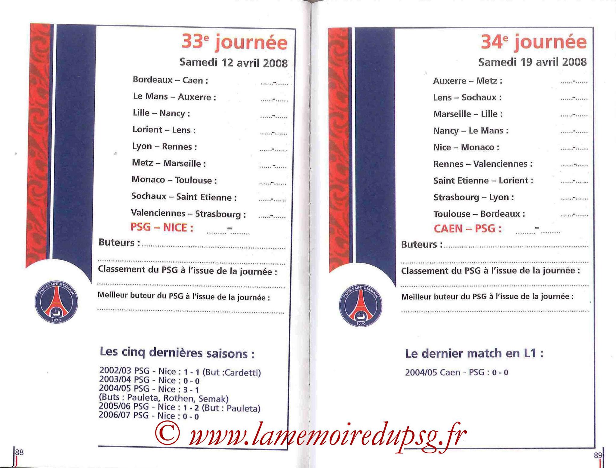 2007-08 - Guide de la Saison PSG - Pages 88 et 89