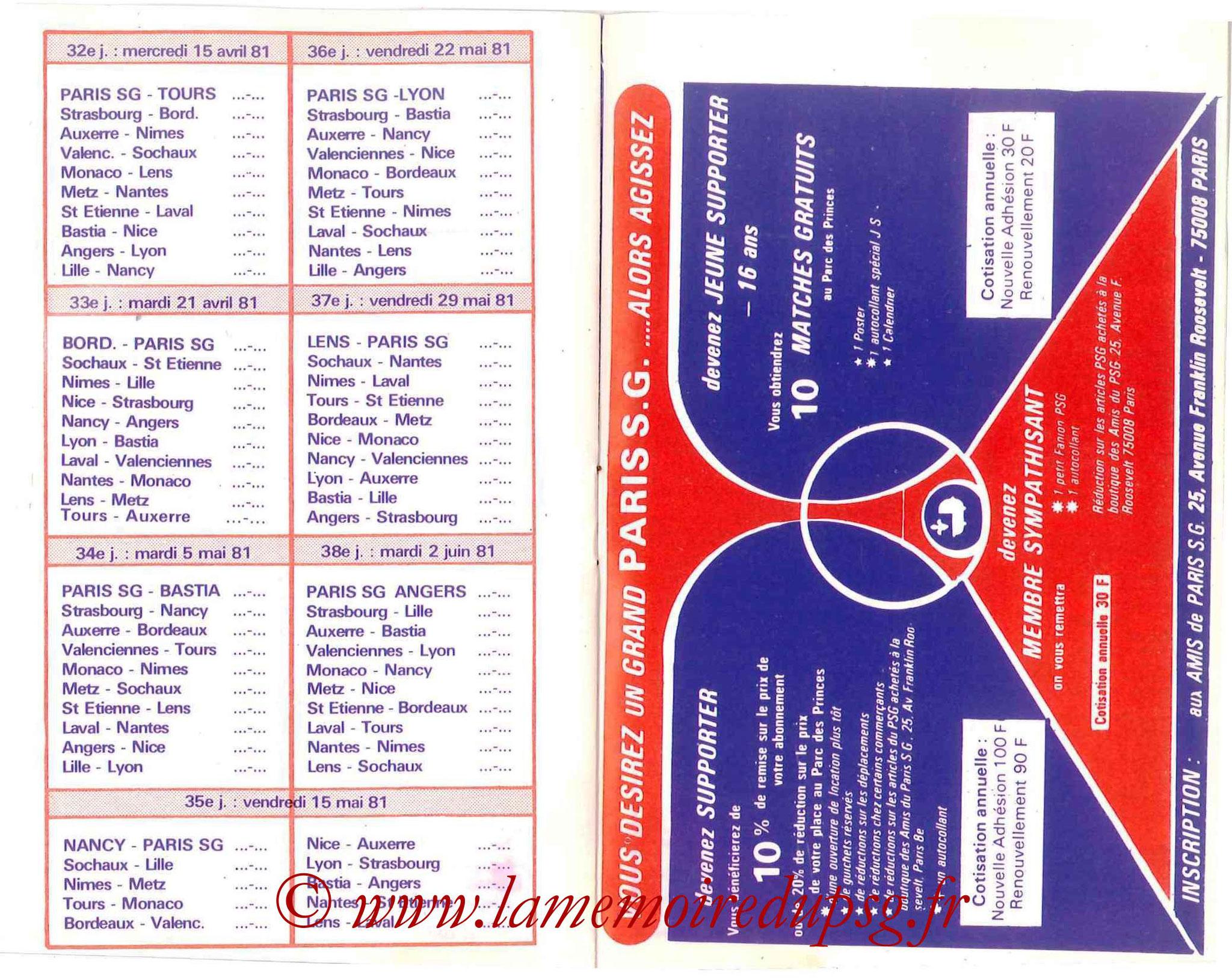 1980-81 - Guide de la Saison PSG - Pages 12 et 13