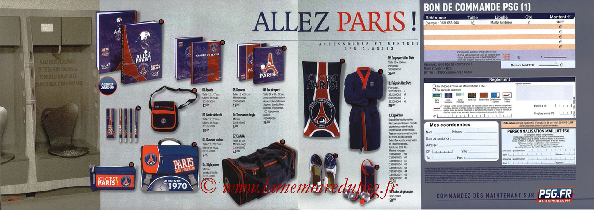 Catalogue PSG - 2008-09 - Pages 06 et 07