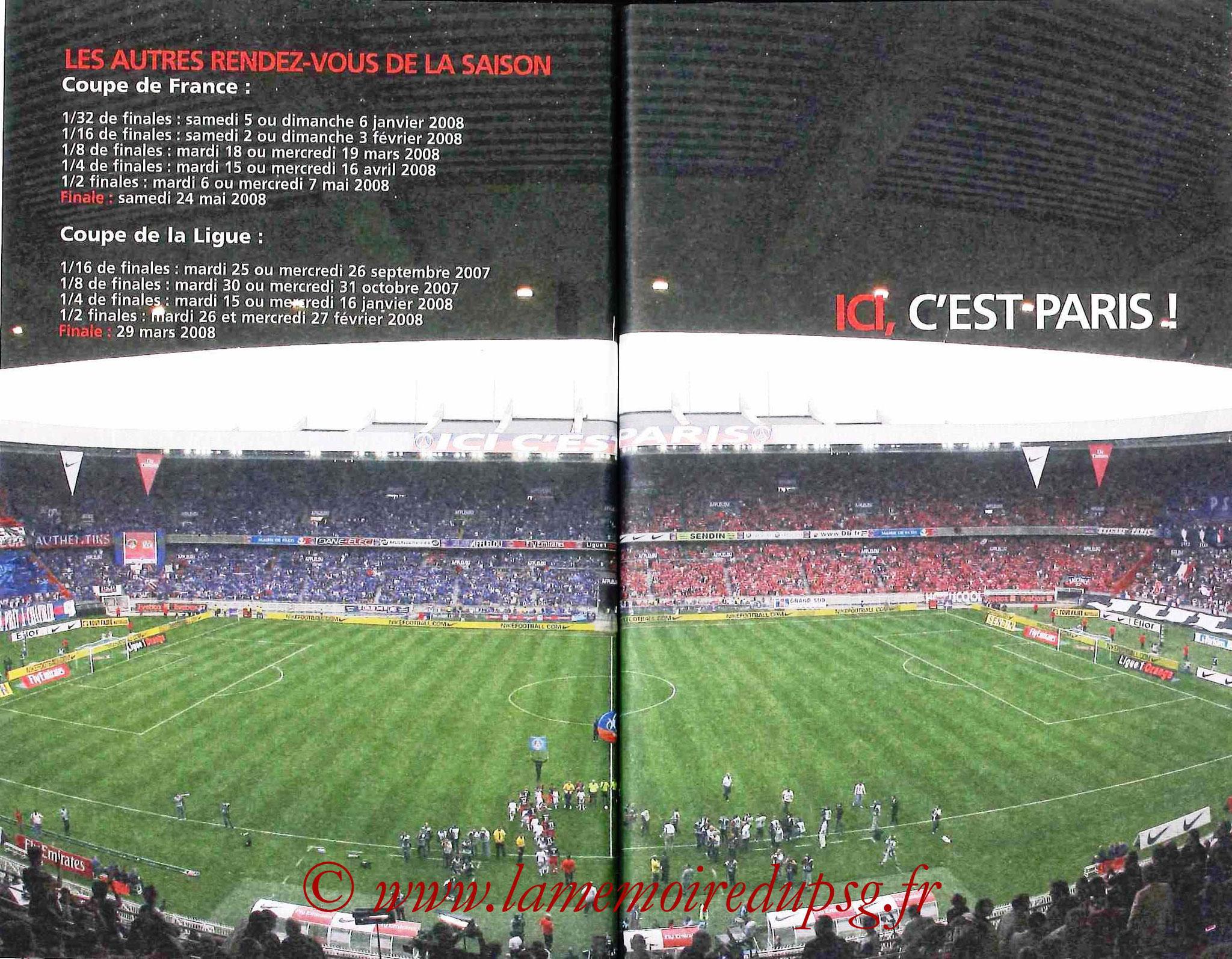 2007-08 - Guide de la Saison PSG - Pages 94 et 95