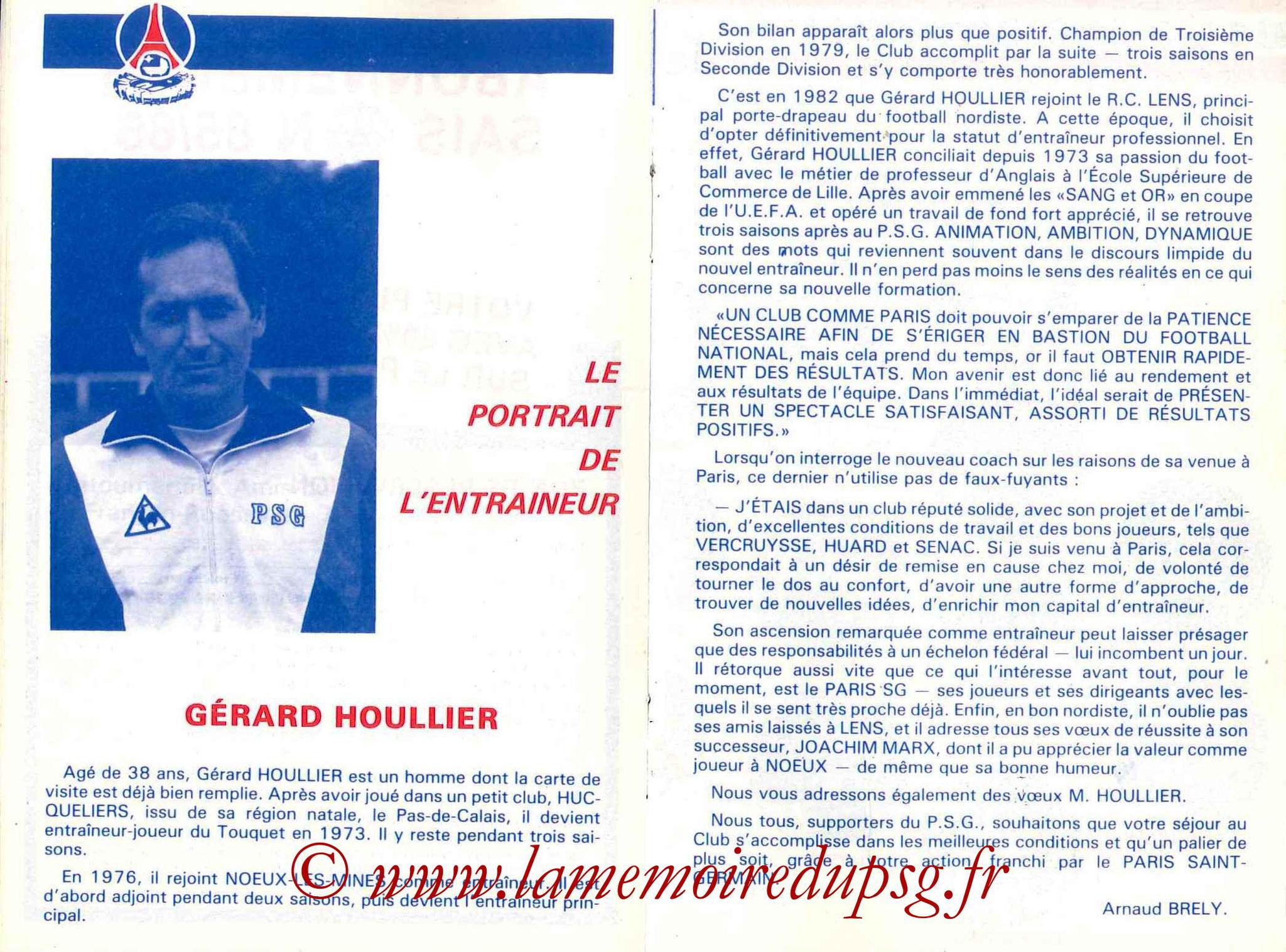 1985-86 - Guide de la Saison PSG - Pages 16 et 17