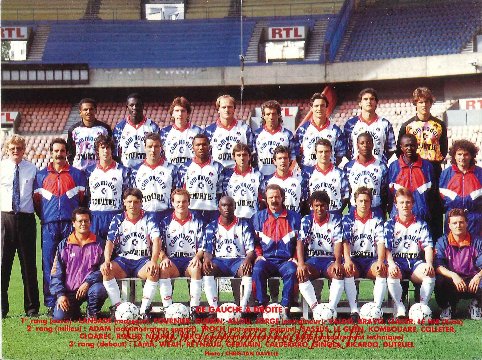 1992-93 - Guide de la Saison PSG - Pages 18 et 19