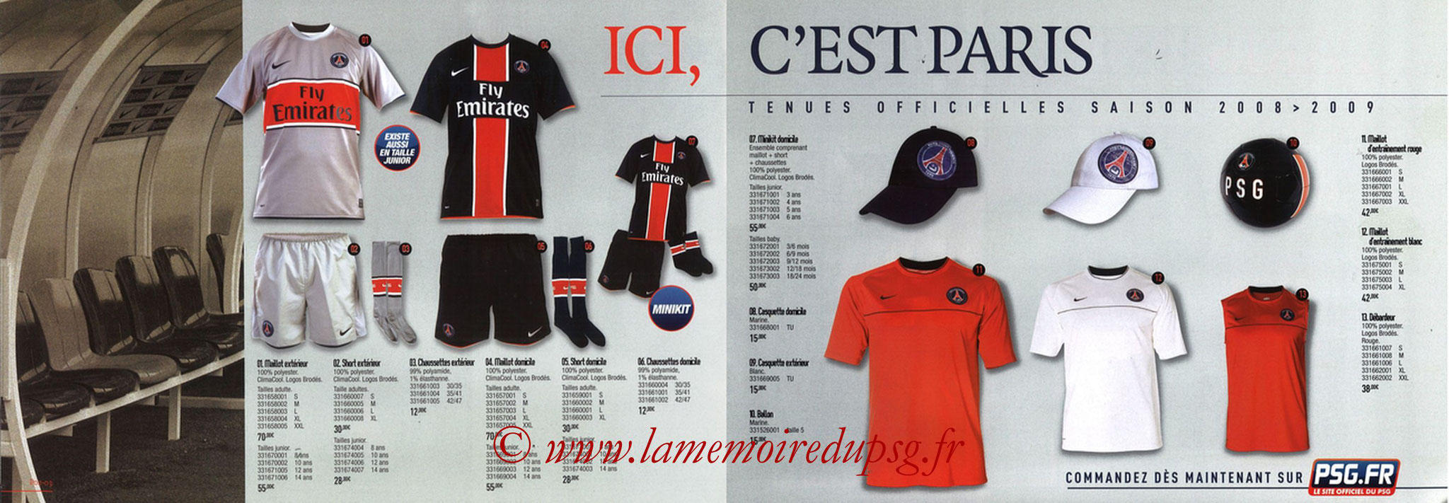 Catalogue PSG - 2008-09 - Pages 02 et 03