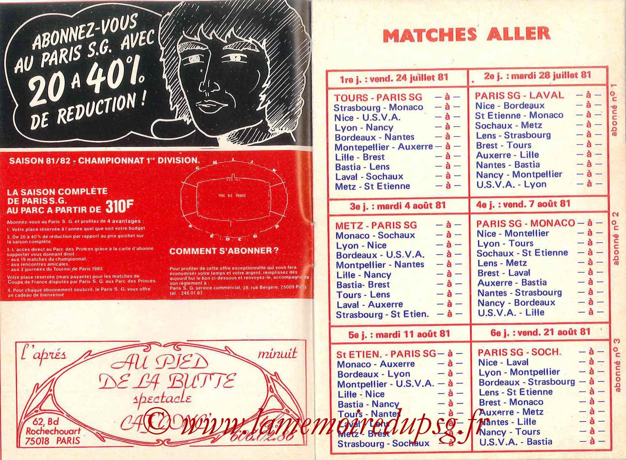 1981-82 - Guide de la Saison PSG - Pages 4 et 5