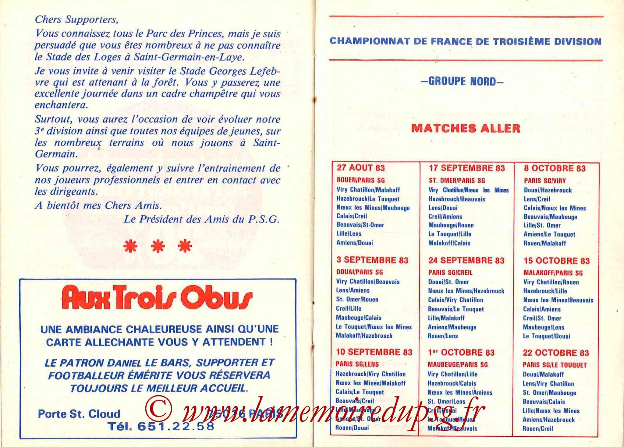 1983-84 - Guide de la Saison PSG - Pages 20 et 21