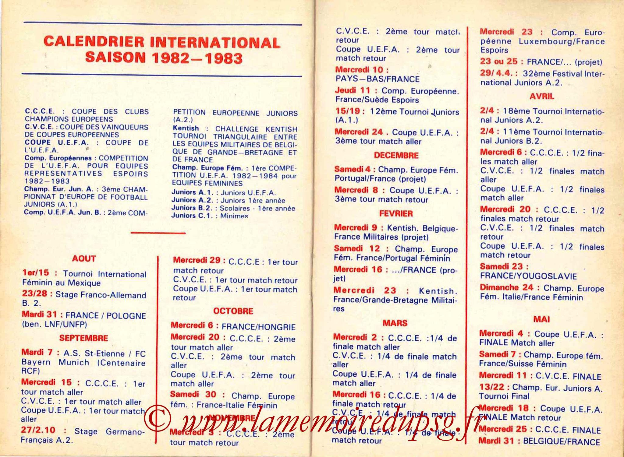 1982-83 - Guide de la Saison PSG - Pages 20 et 21